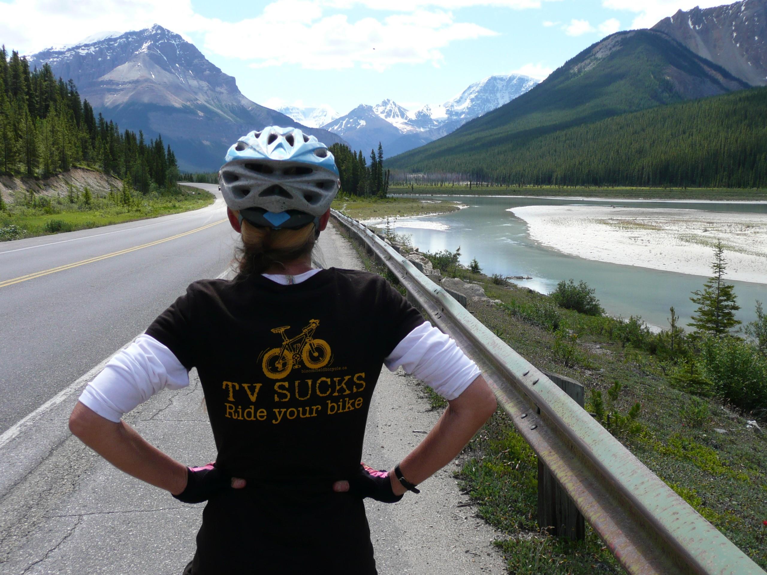 Biker wearing a funny t-shirt