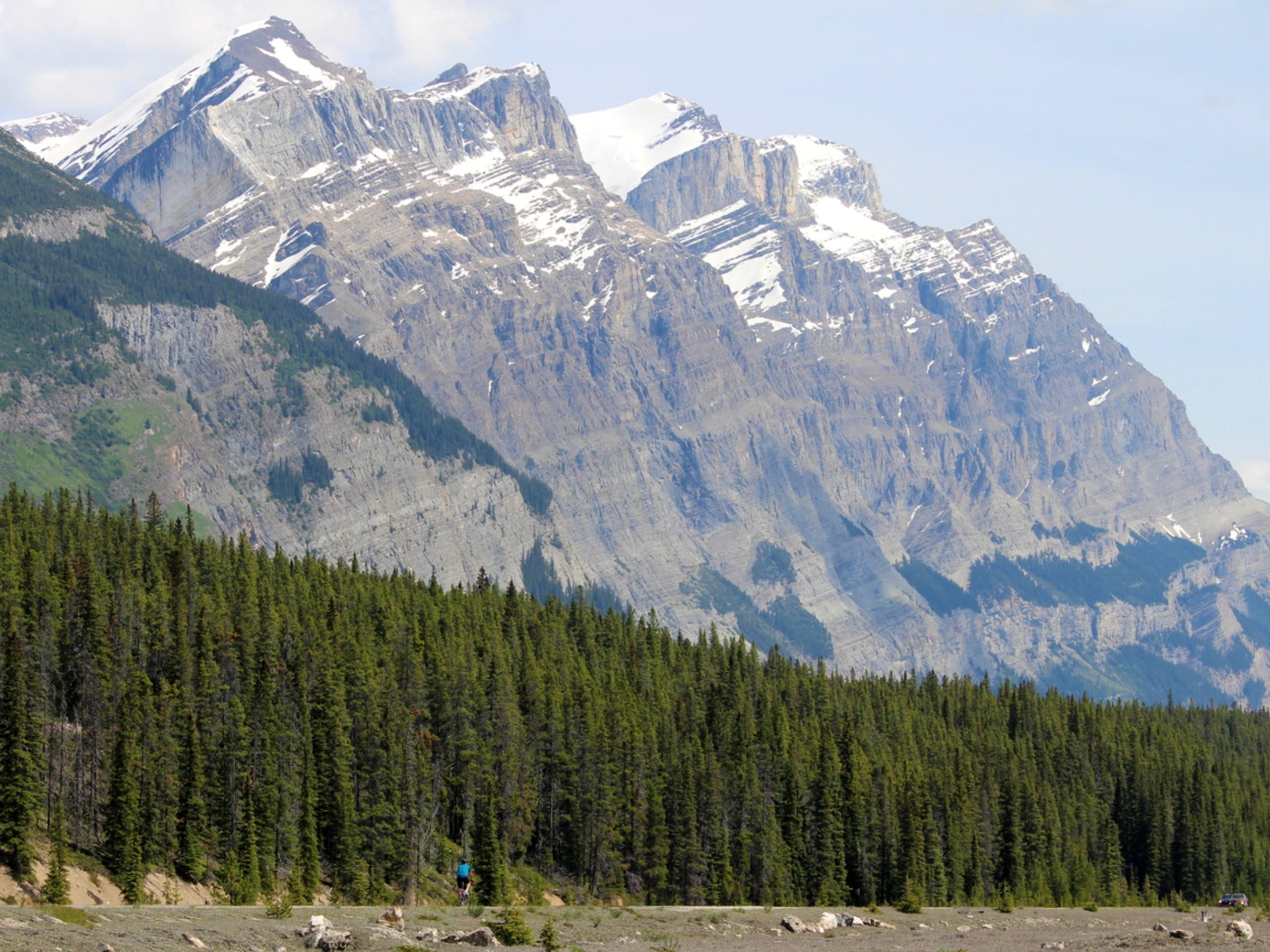 Tall mountains in Alberta