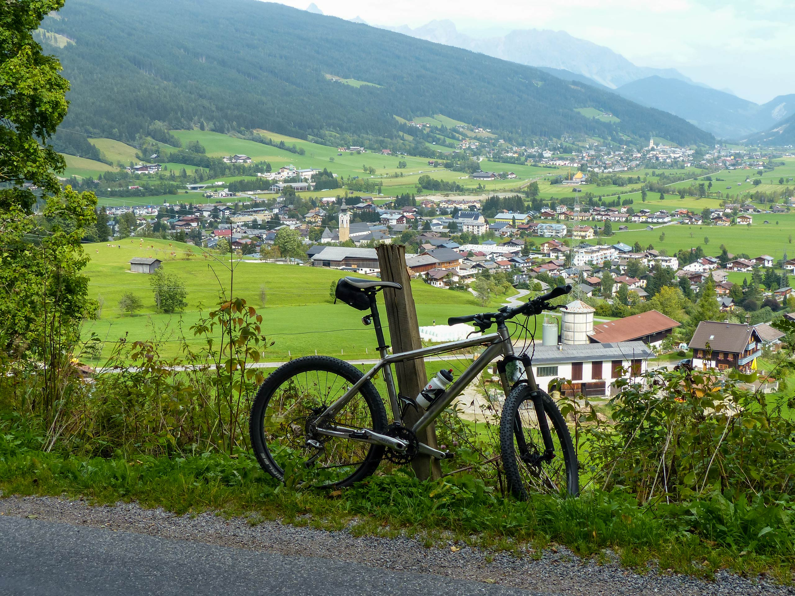 Mountain bike cycling villages in the Austrian Alps