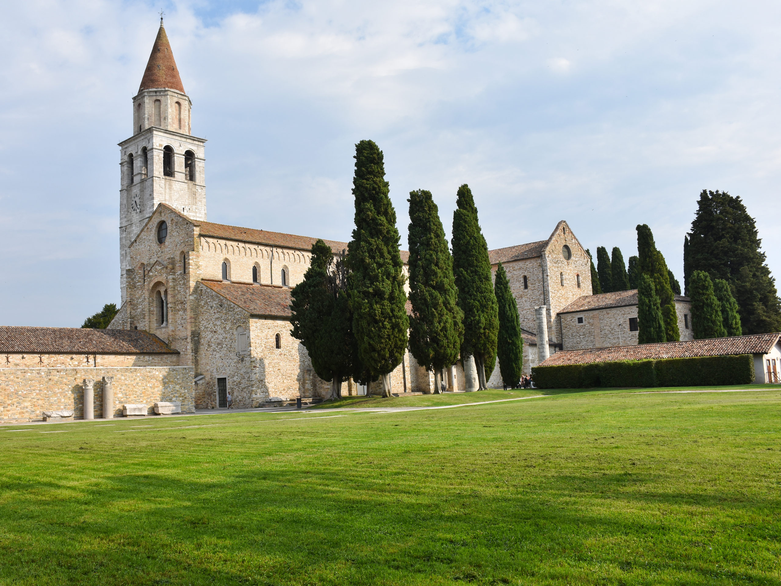 View of the Cathedral of Aquileia Italy