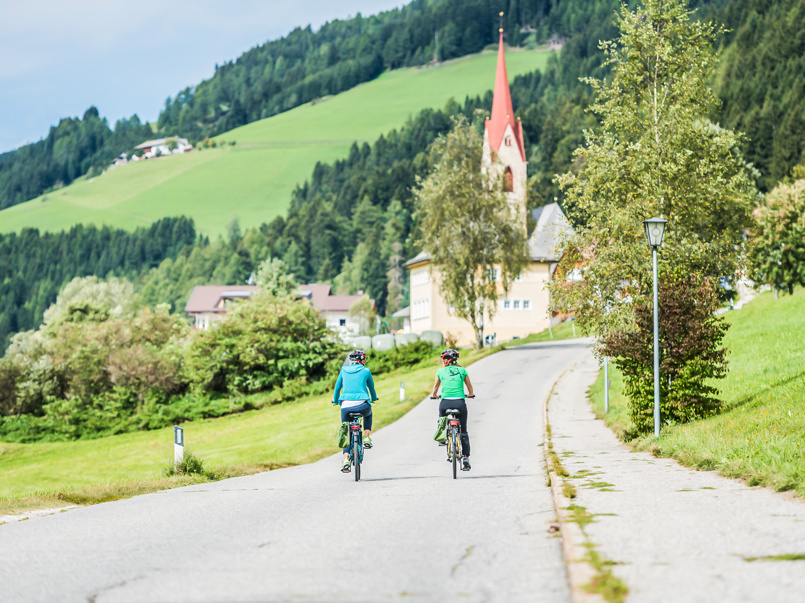 Biking on the Italy road