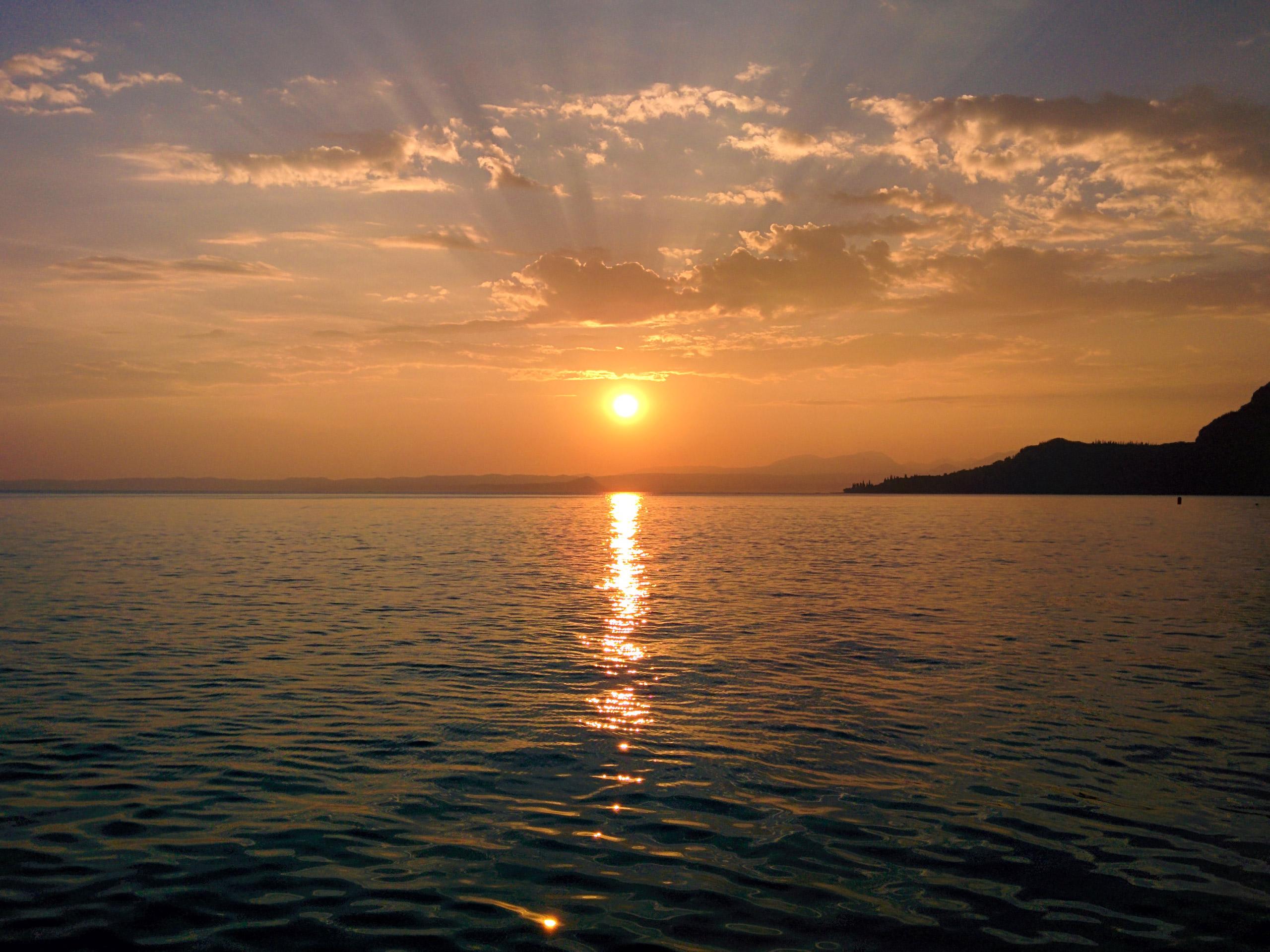 Sunset on the Lake Garda
