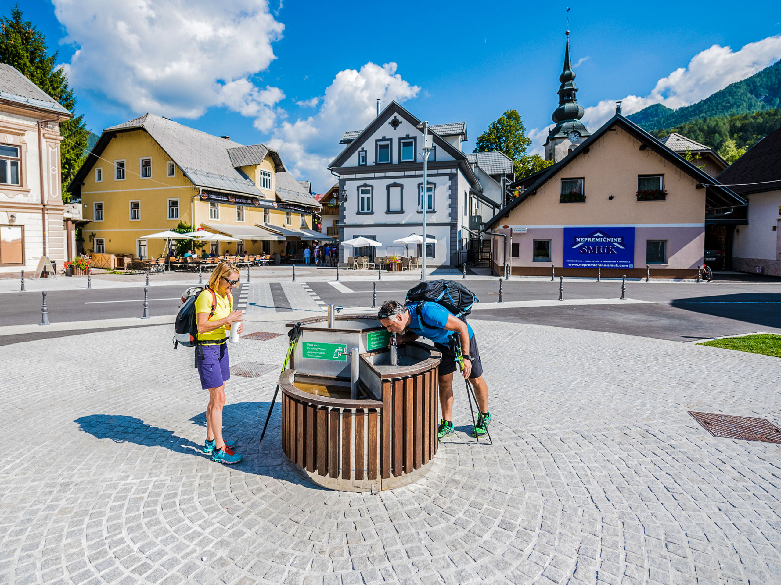 Drinking fountain in the city