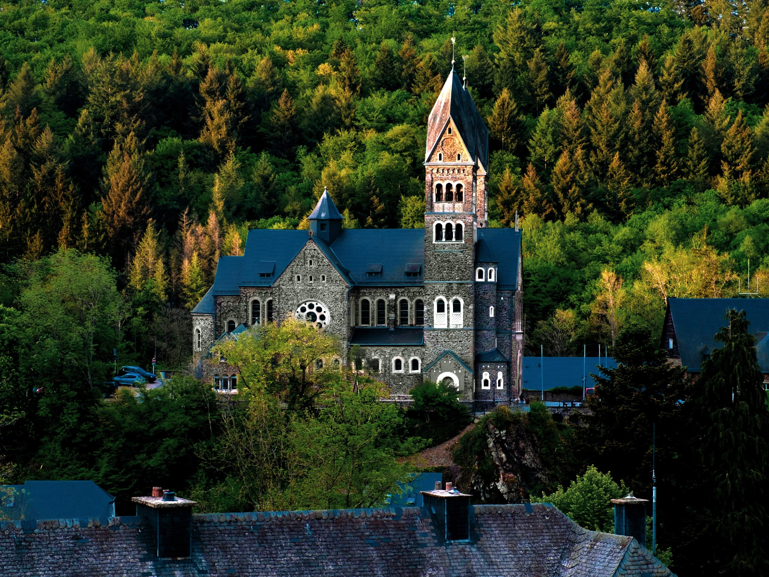 Church seen on self-guided biking tour in Benilux
