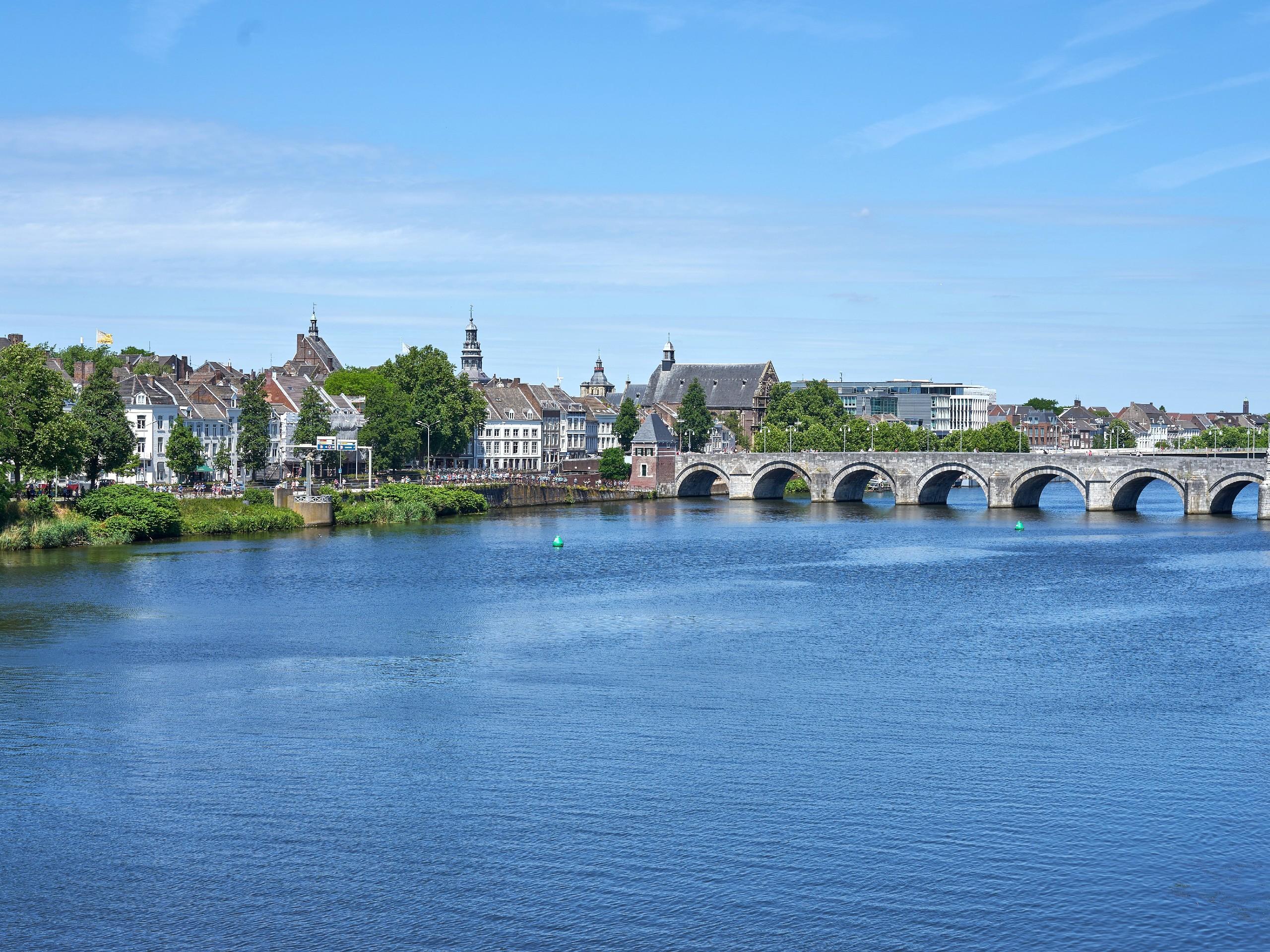 Bridge over the river in Netherlands