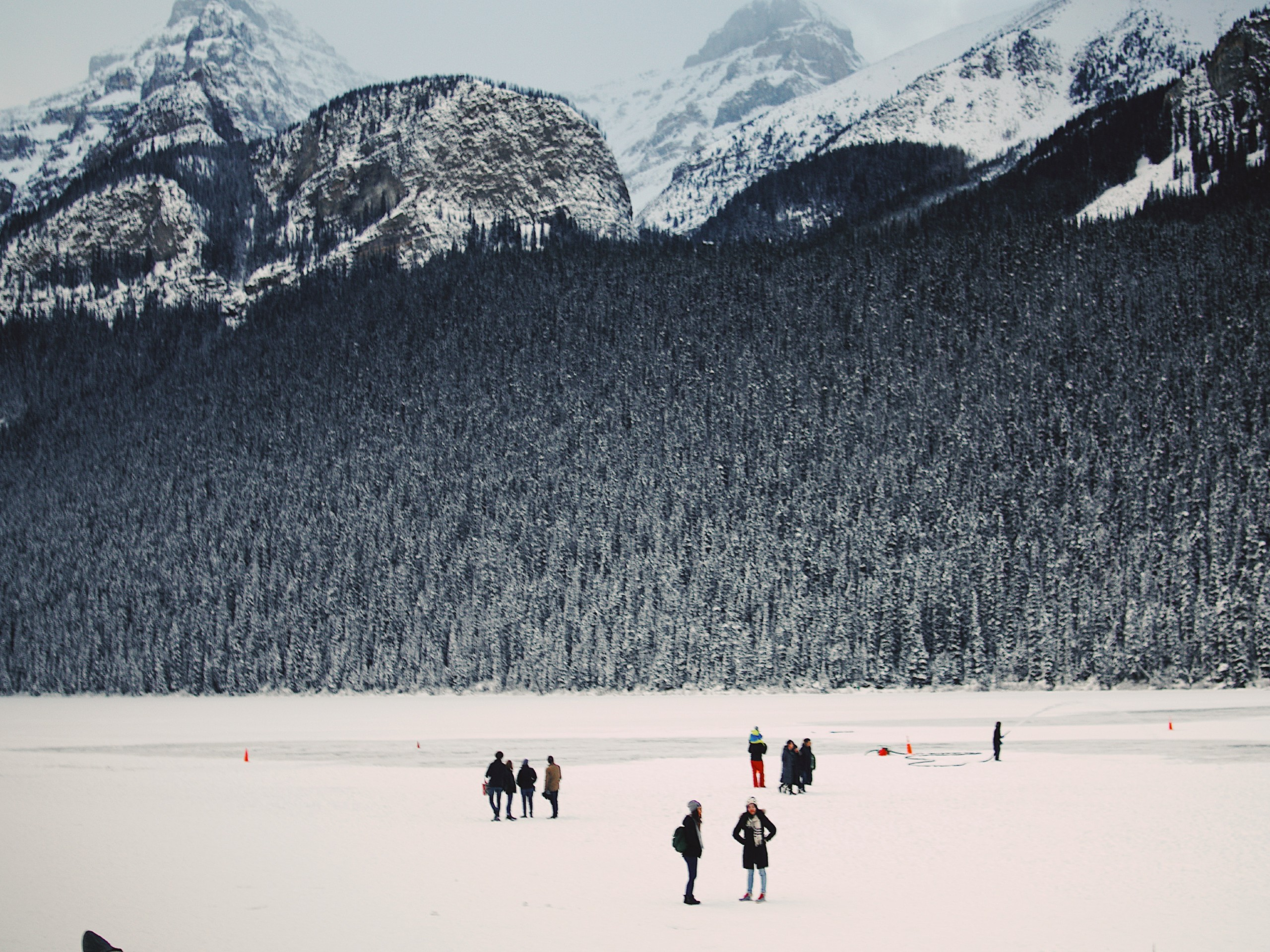 Frozen lake in Banff National Park
