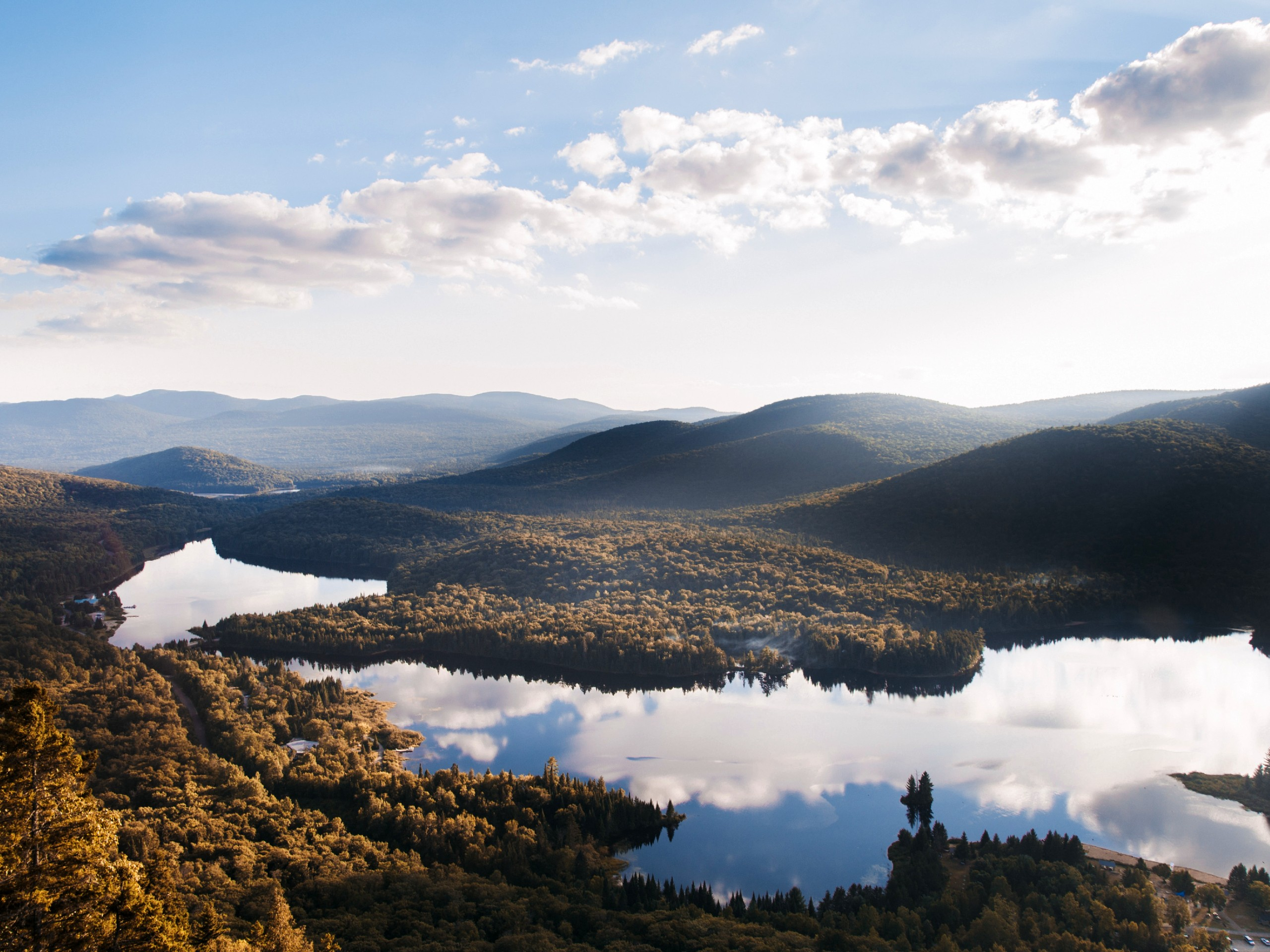 Beautiful lake in Mont Tremblant area