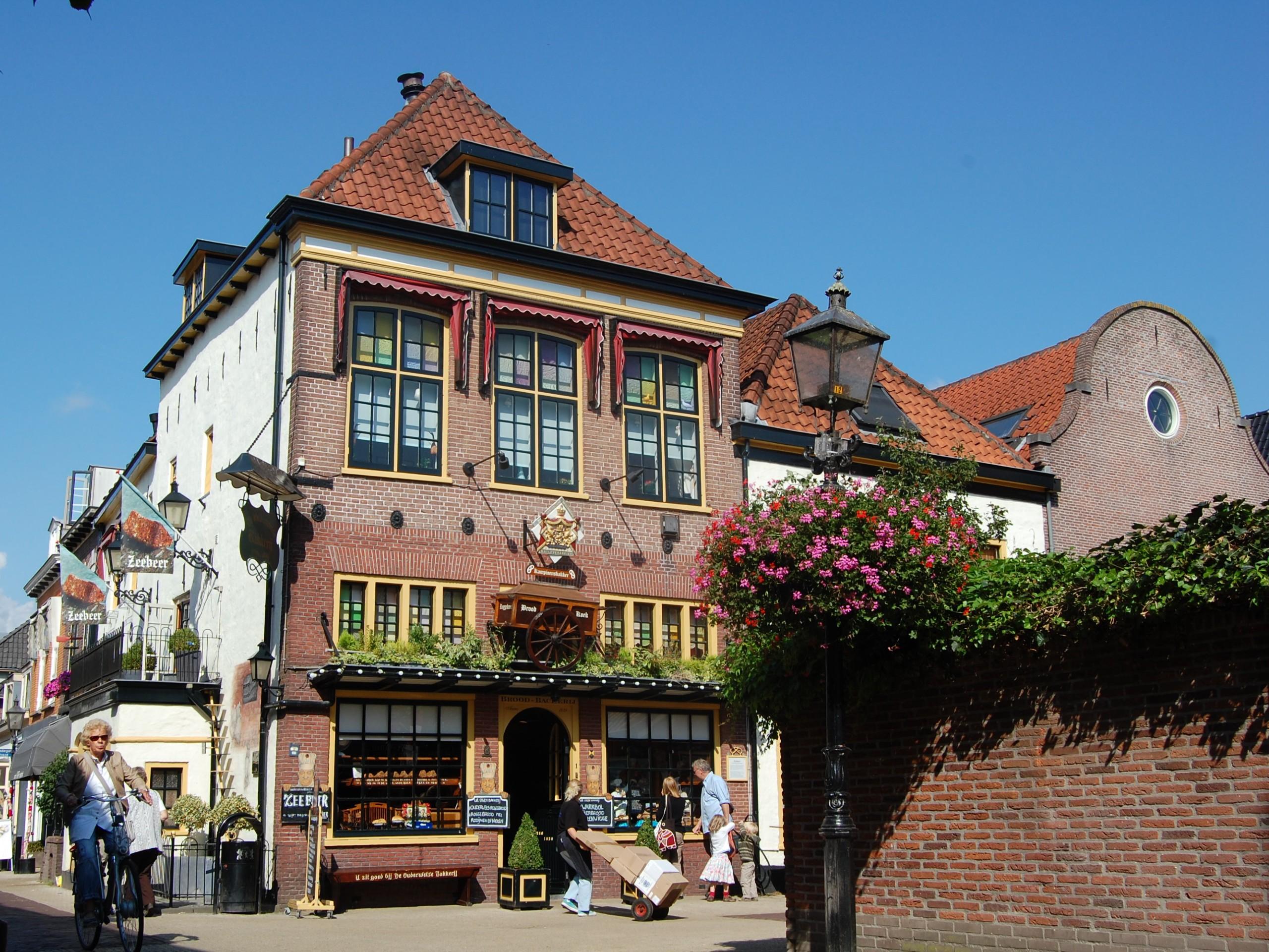Colorful buildings in Harderwijk
