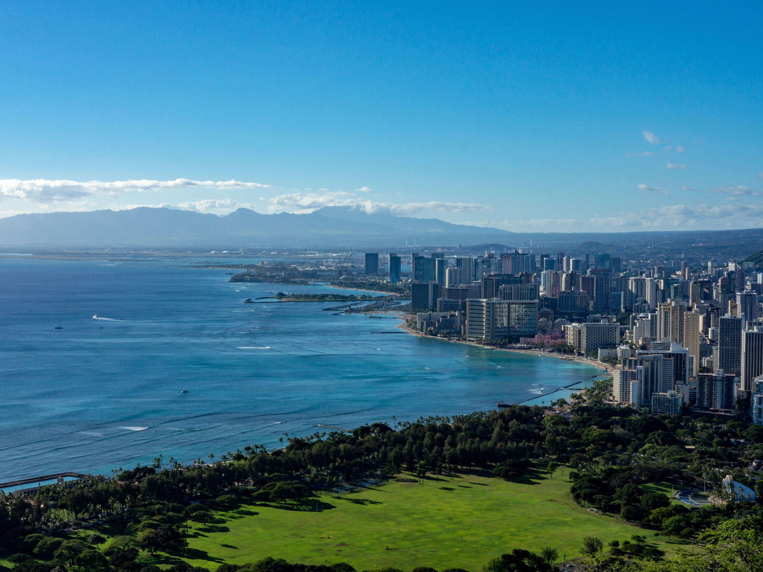 Honolulu as seen from the above