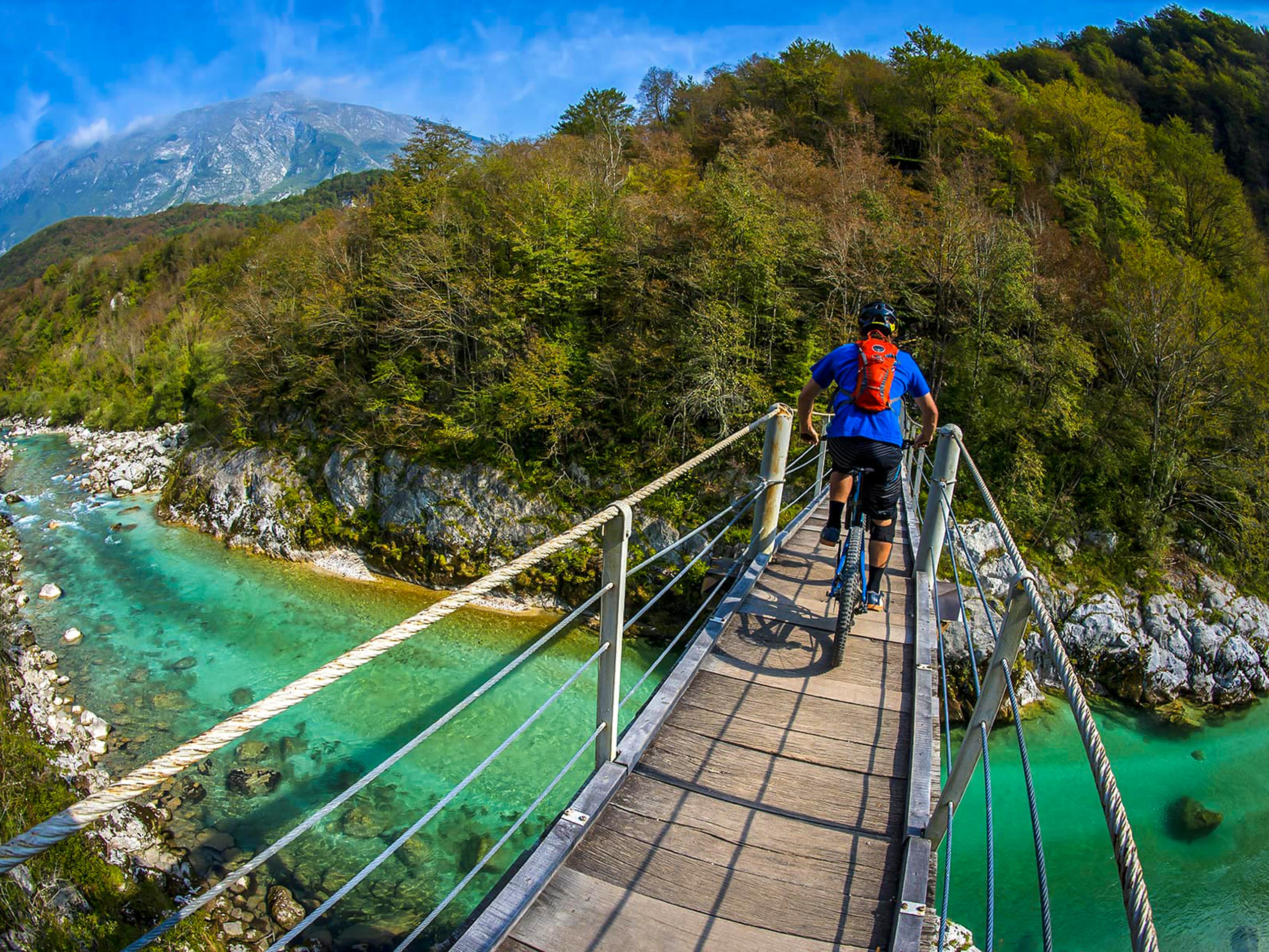 Bridge over the mountains river