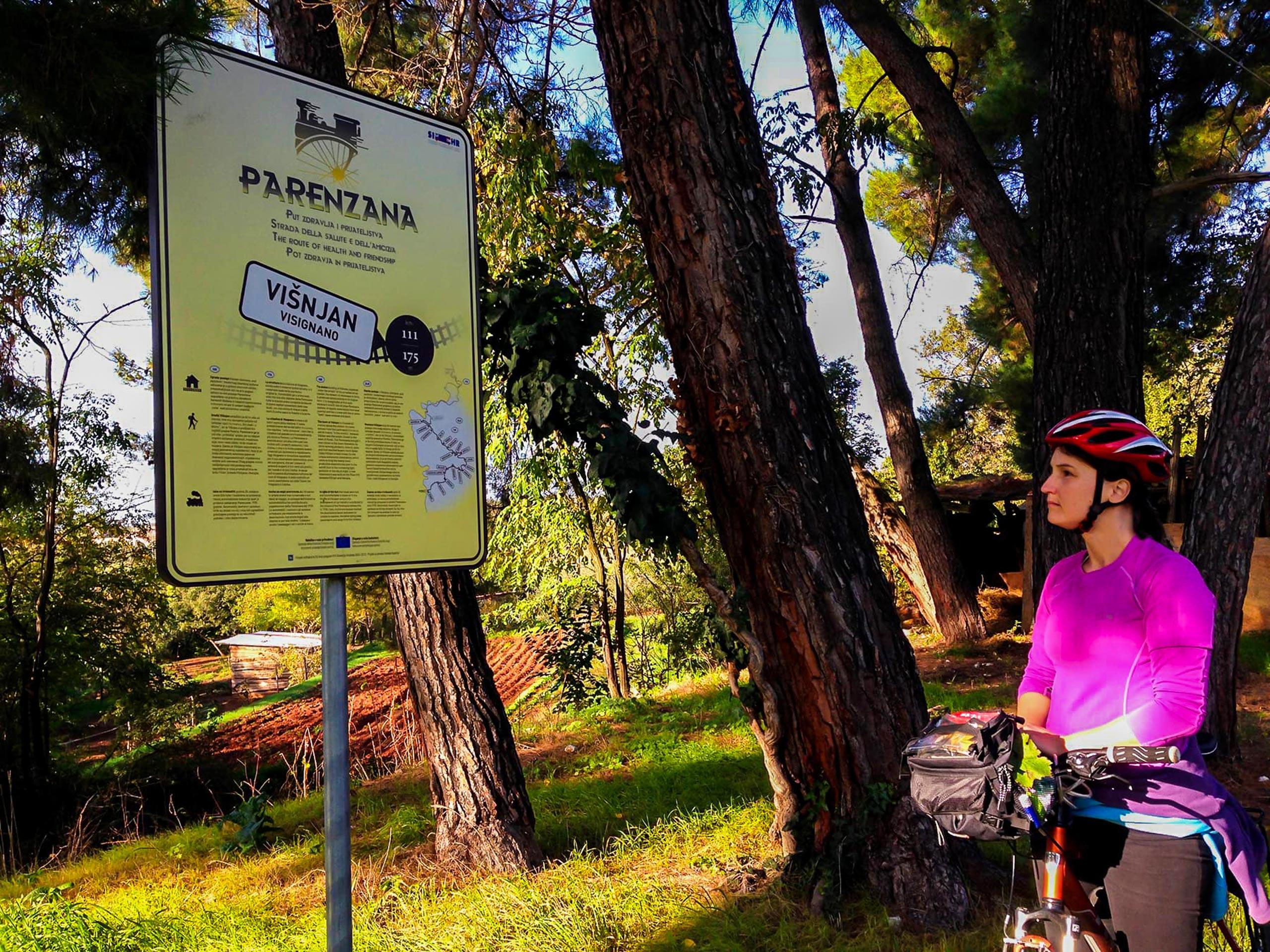Parenzana information stand