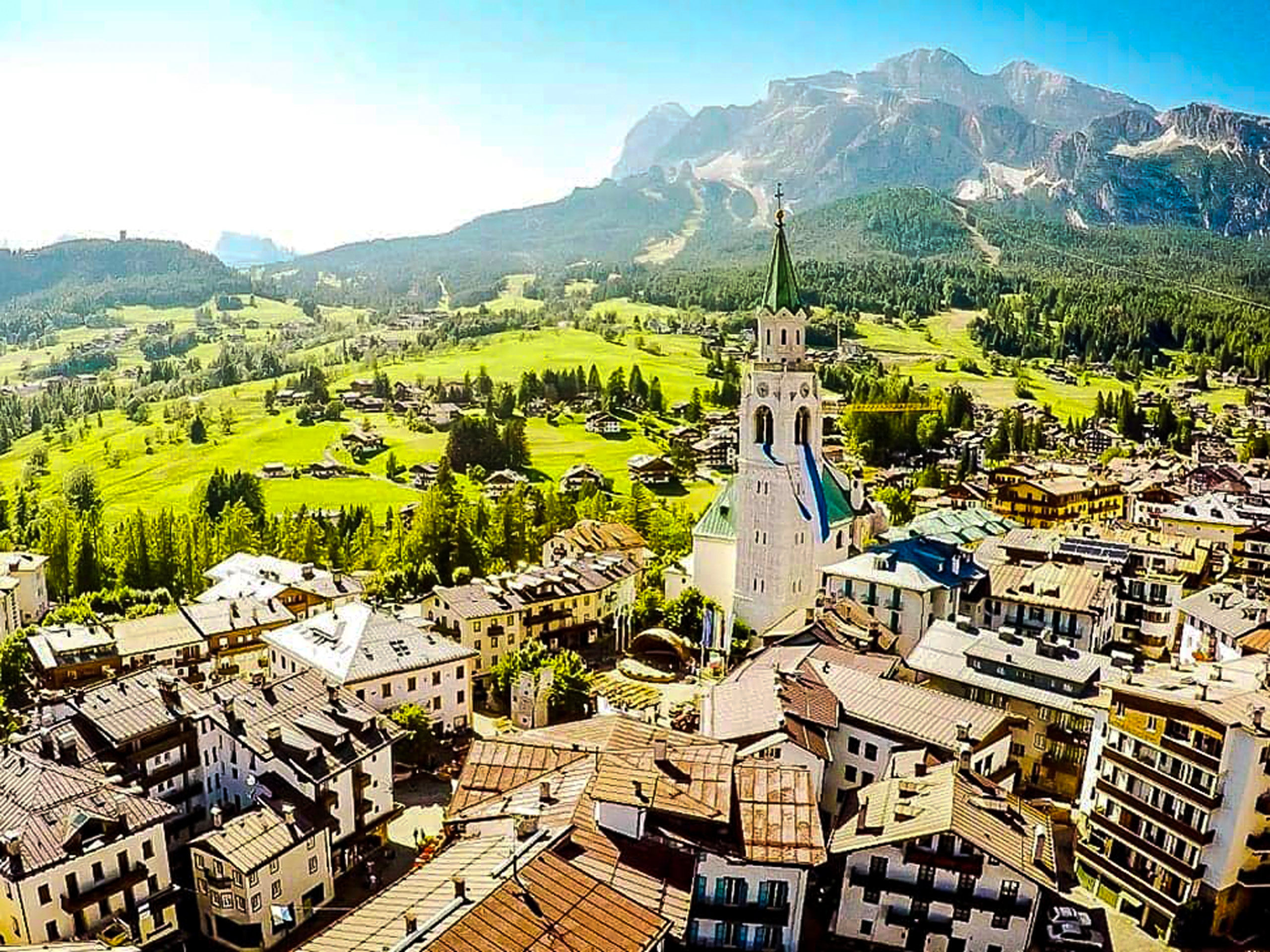 Beautiful panoramic city view