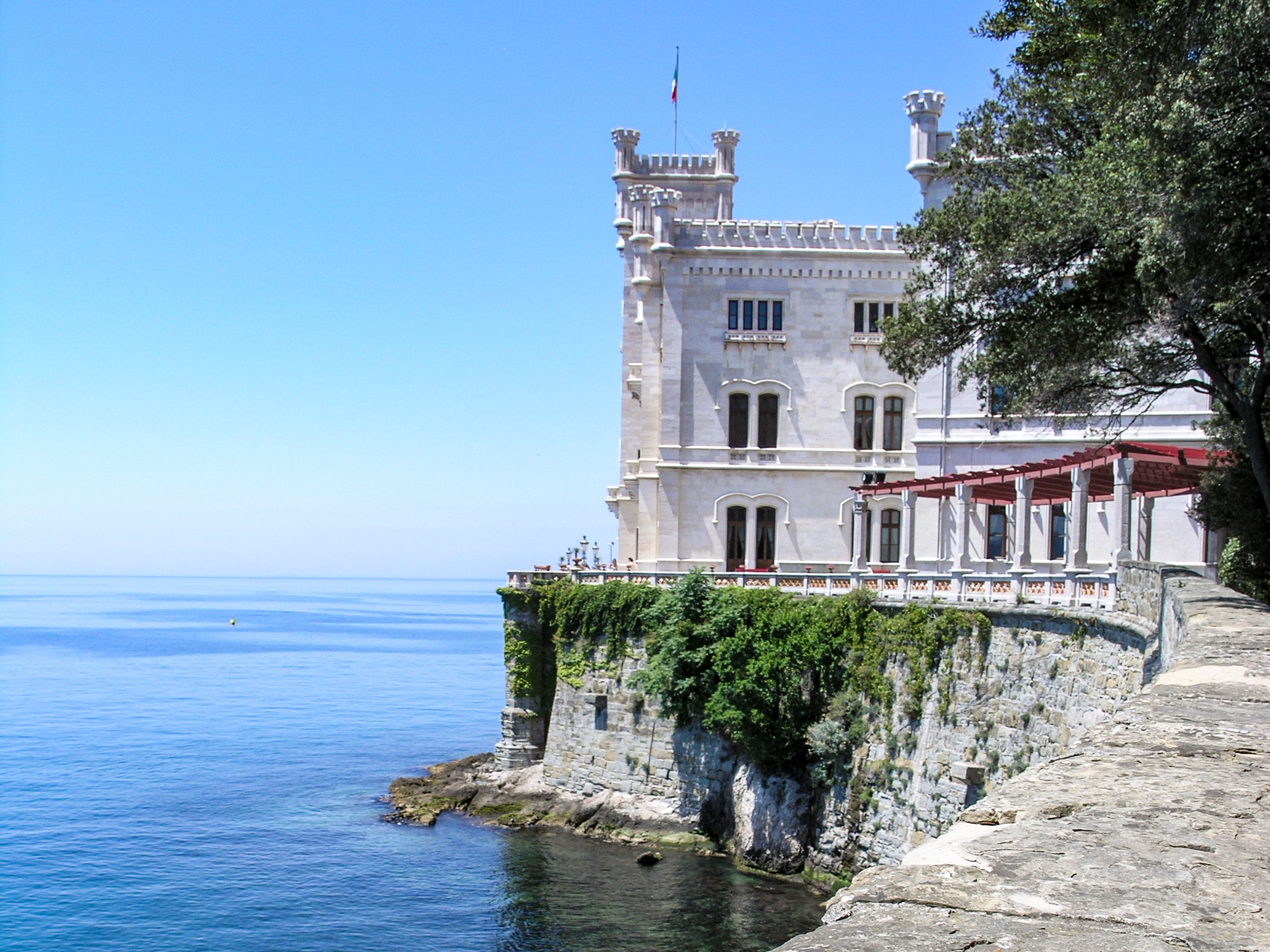 Tower over the sea in Italy