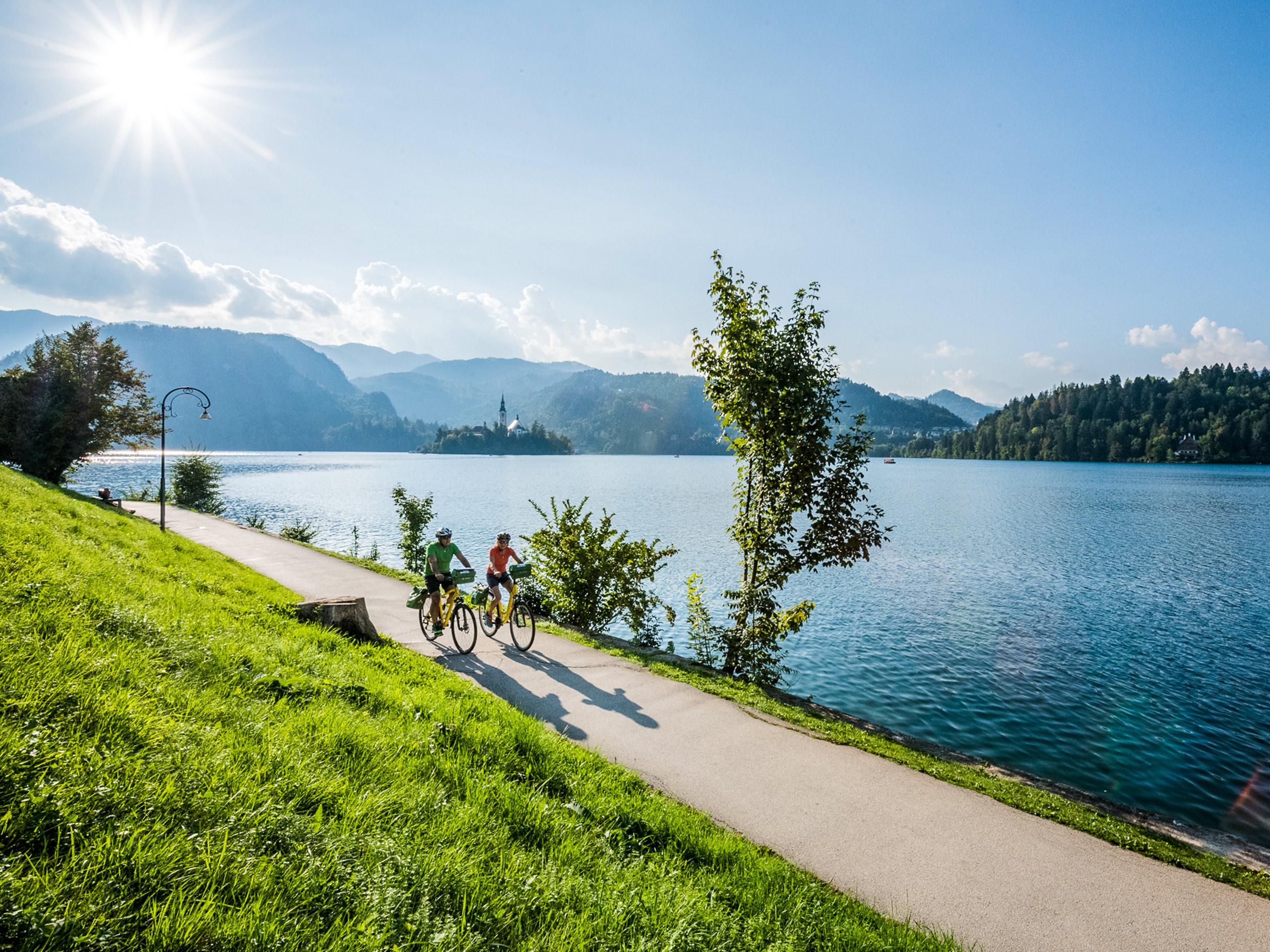 Bike ride along the coast