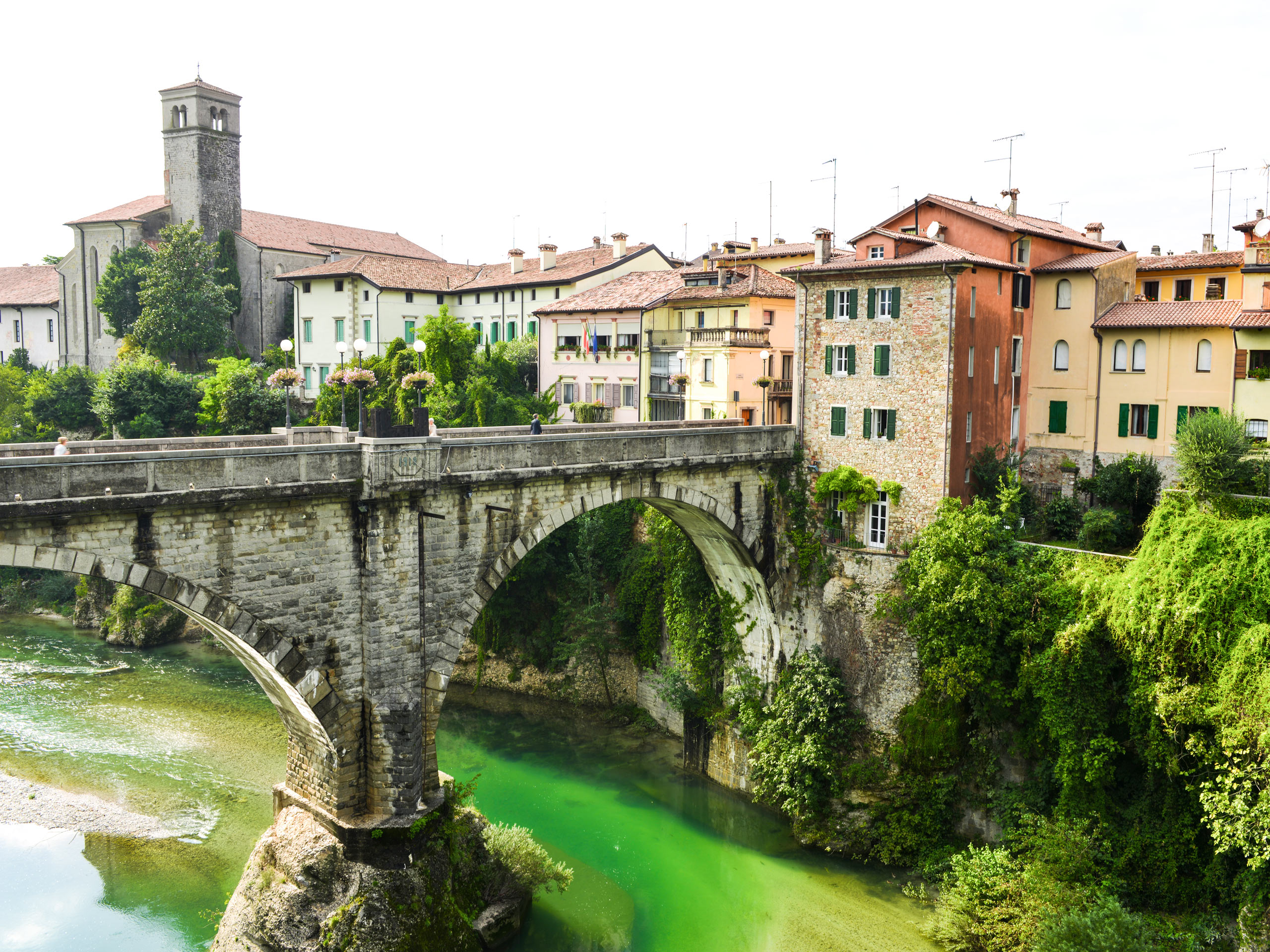 Beautiful bridge in Italy