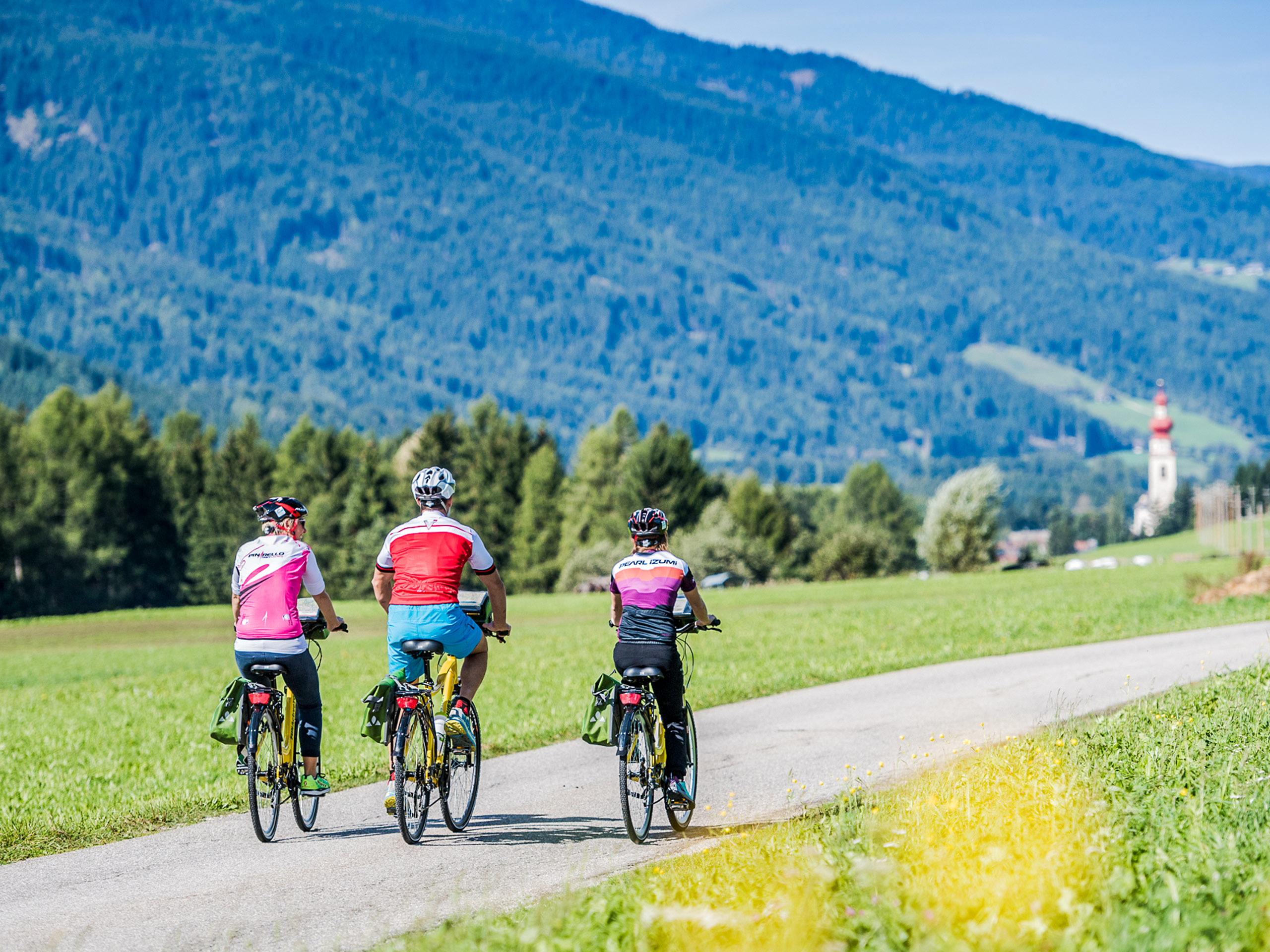Beautiful landscapes seen by cycling