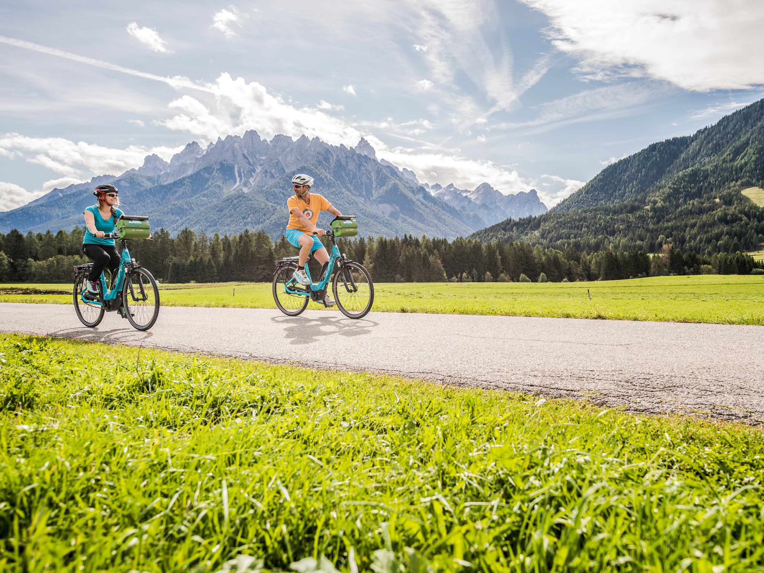 Cycling trail in the mountains
