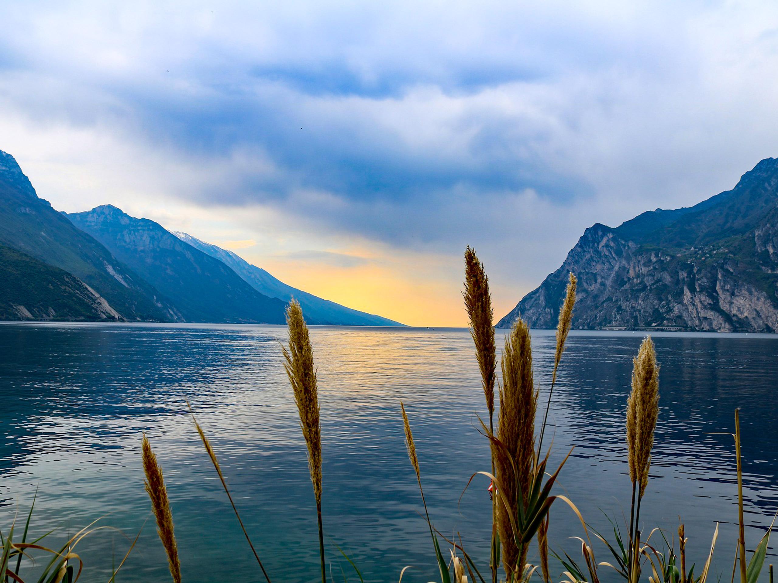 Garda Lake panoramic view