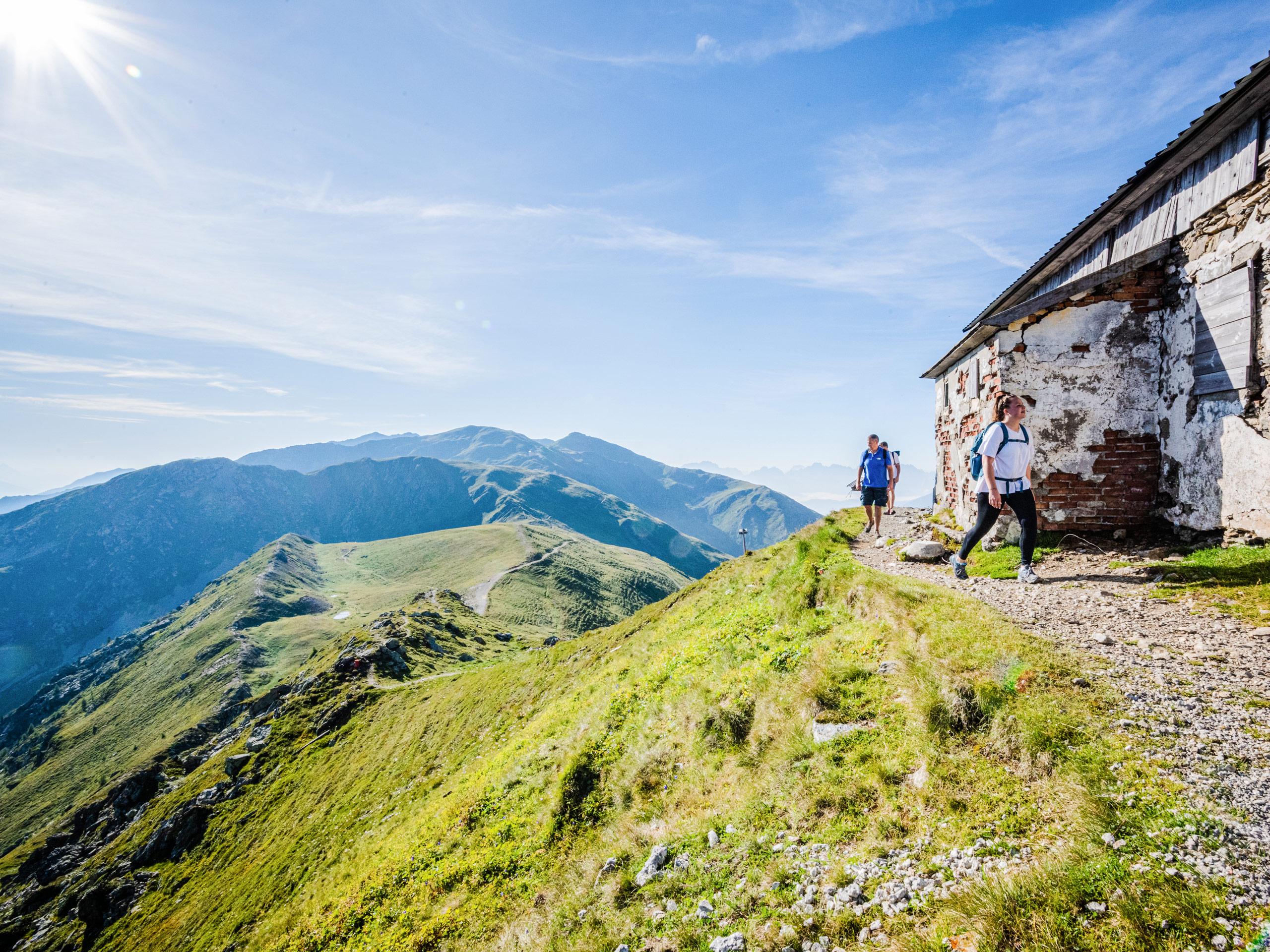 Italian mountain range walking