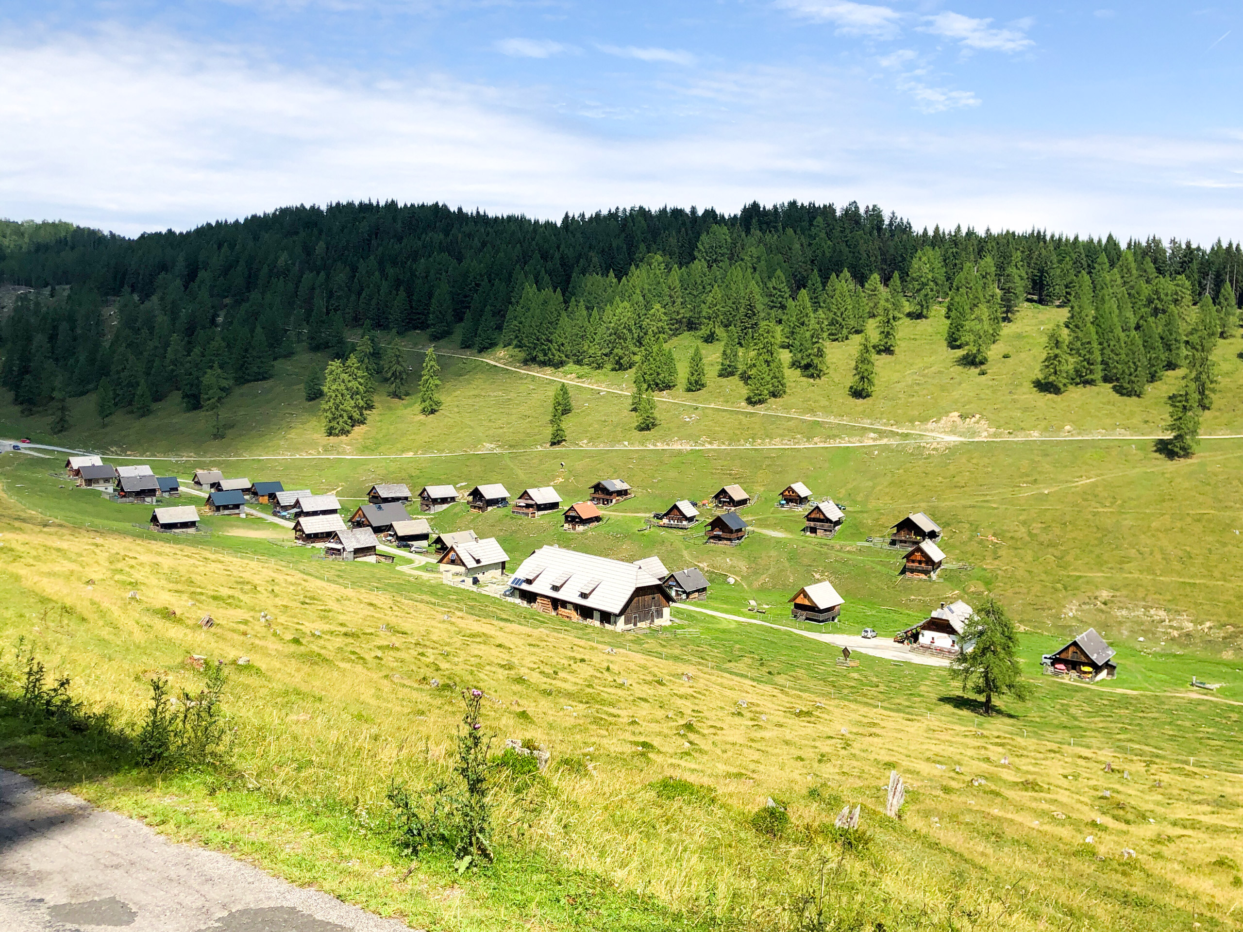 Mountain village in Italy