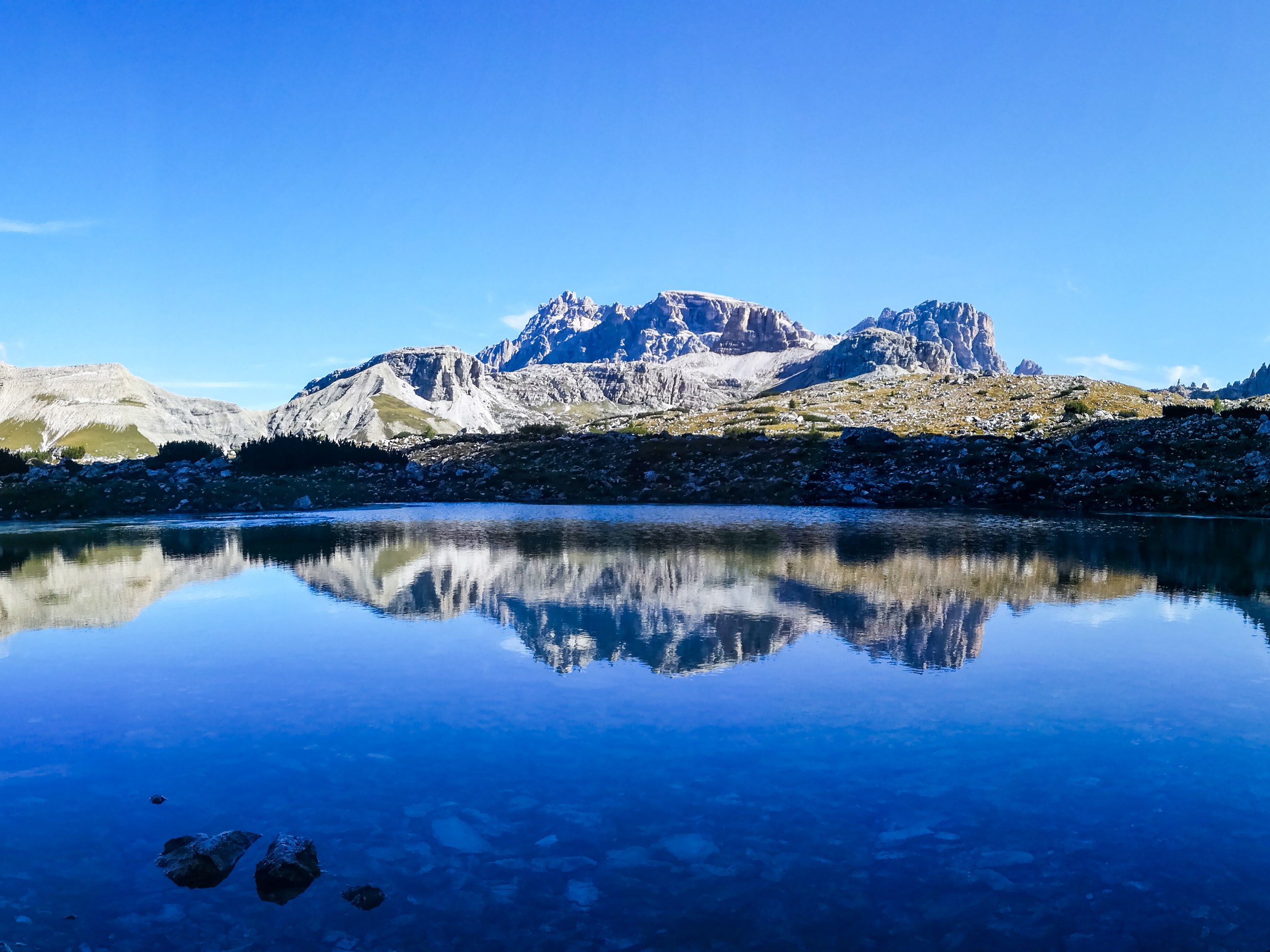 Mountain over the lake