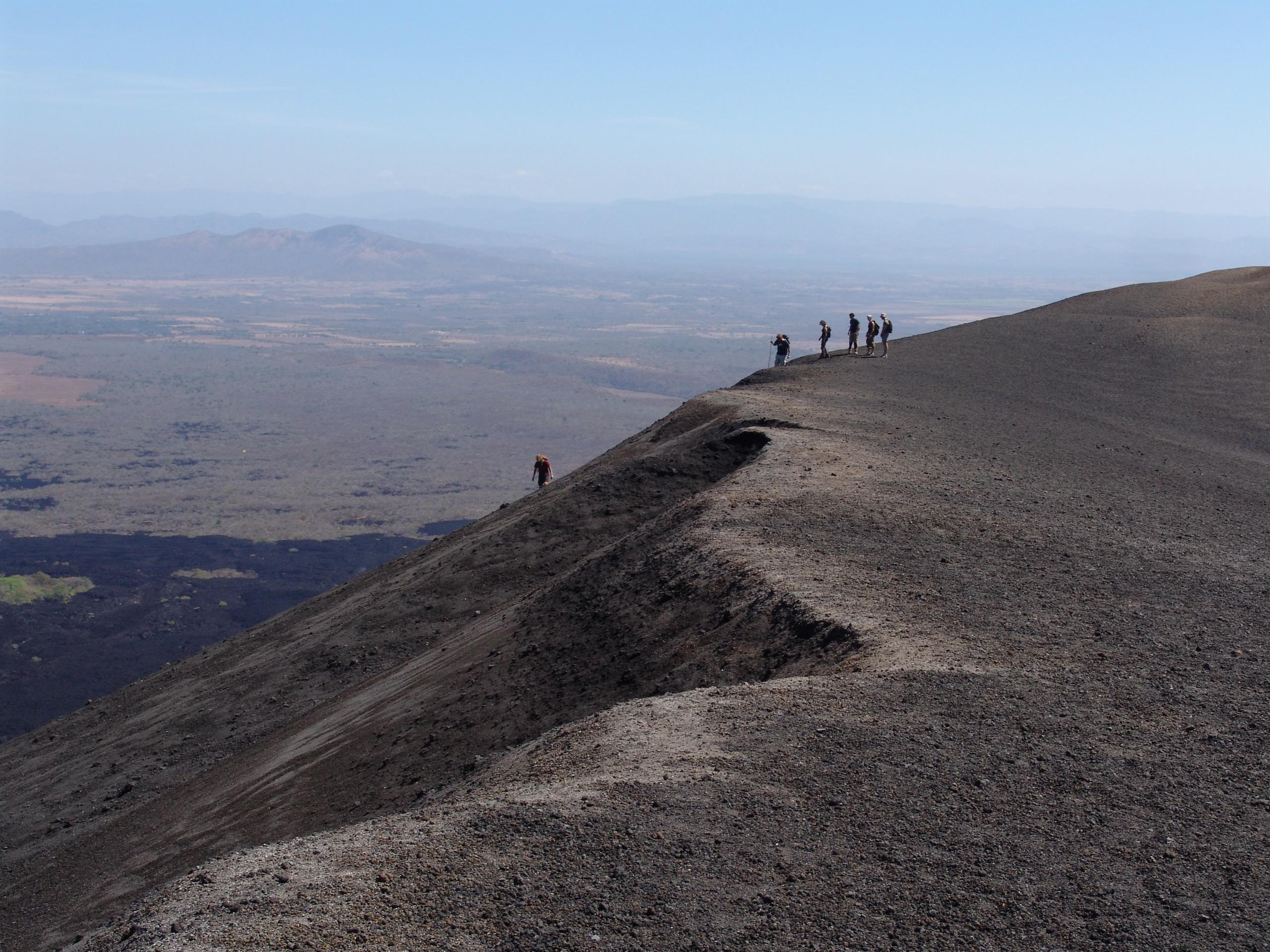 Cerro Negro volcano in Leon