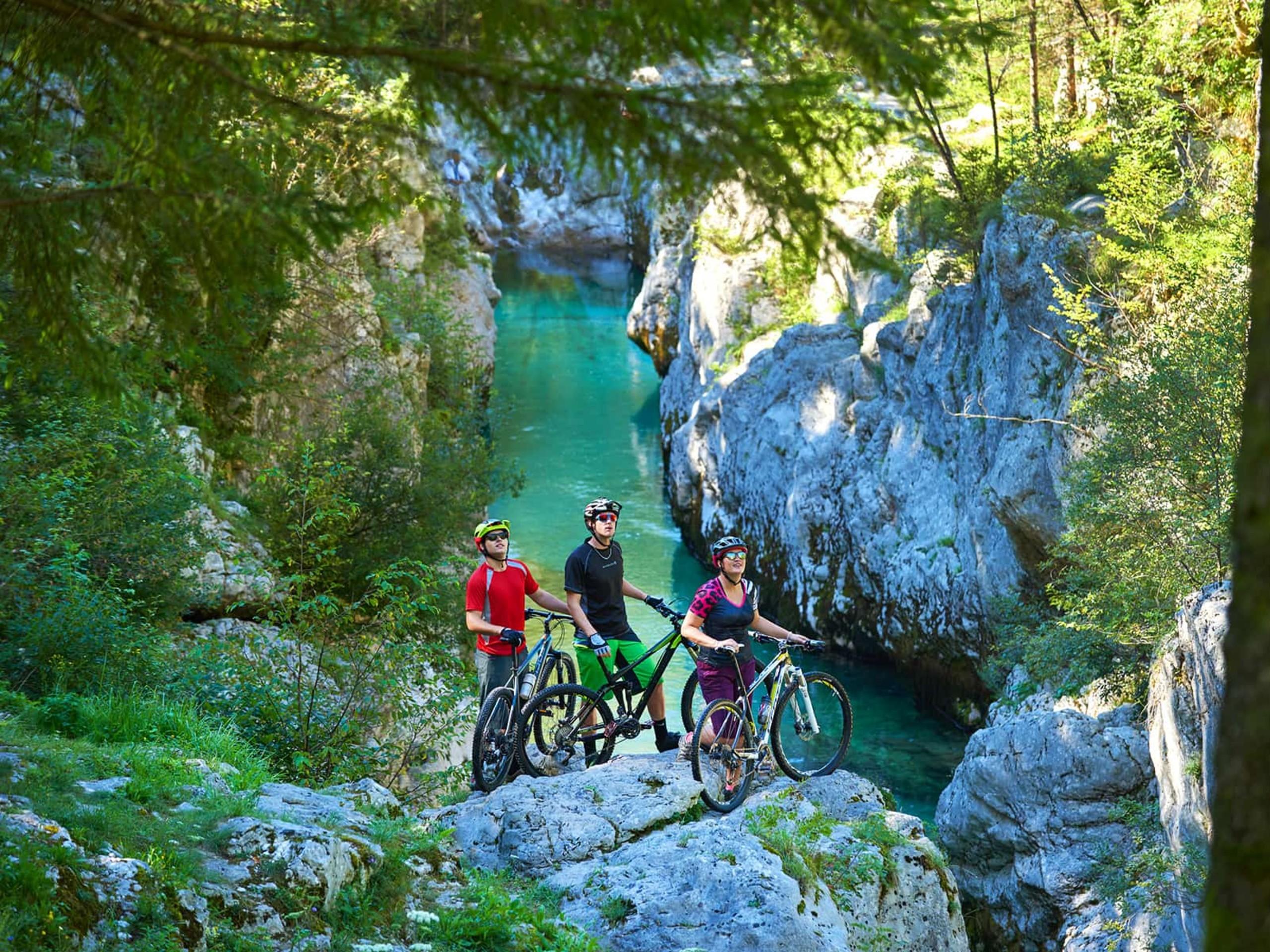 Three bikers in Slovenia