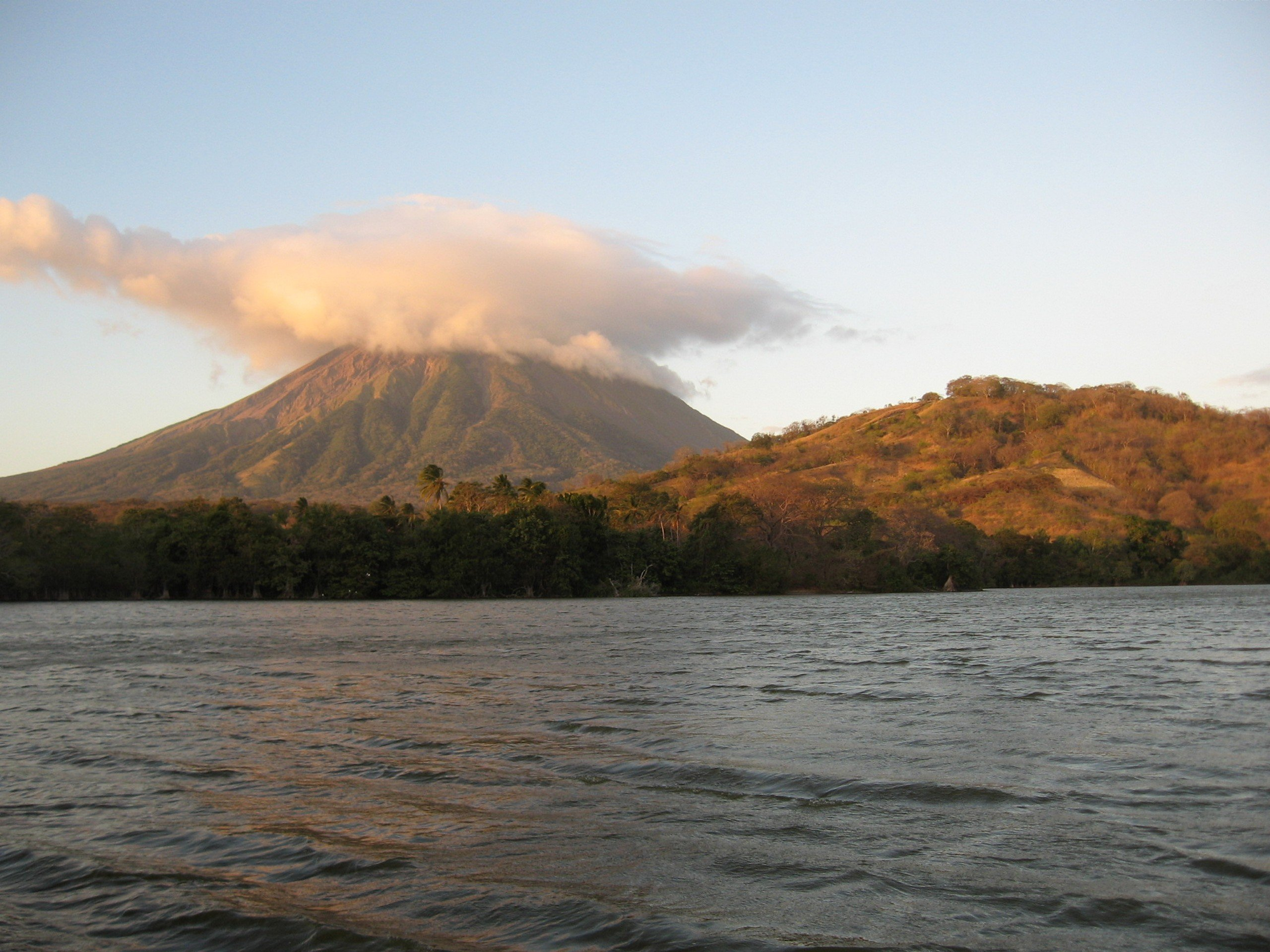 Charco Verde in Ometepe as seen from Ferry