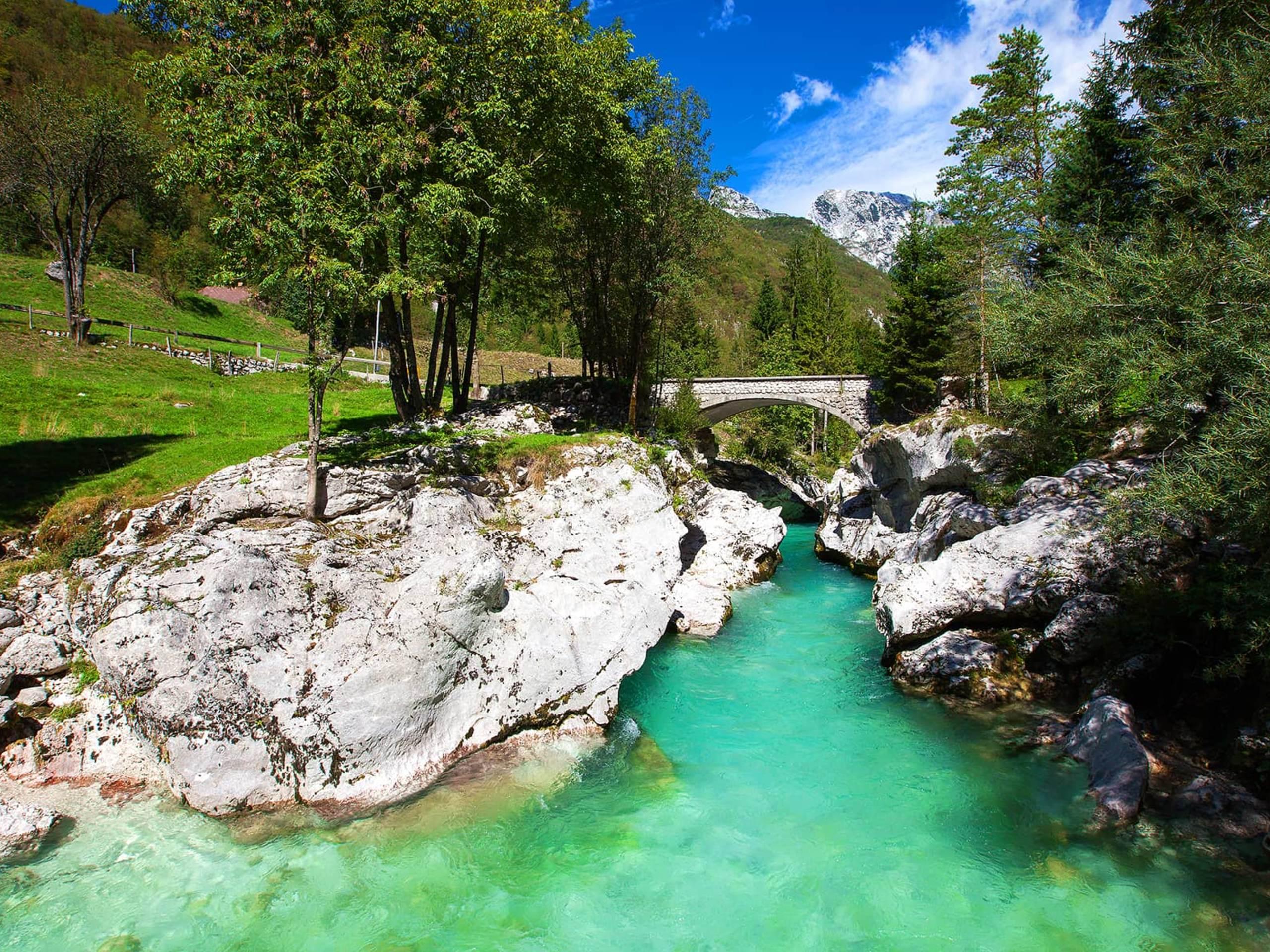Turquoise Gorge in Slovenia
