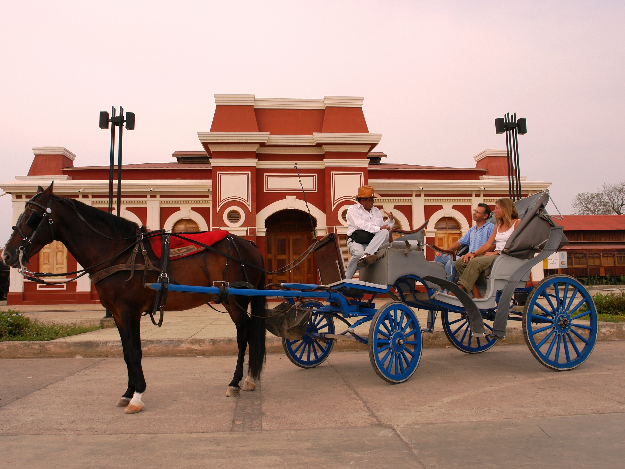 Granada - Horse drawn carriage by Old train station