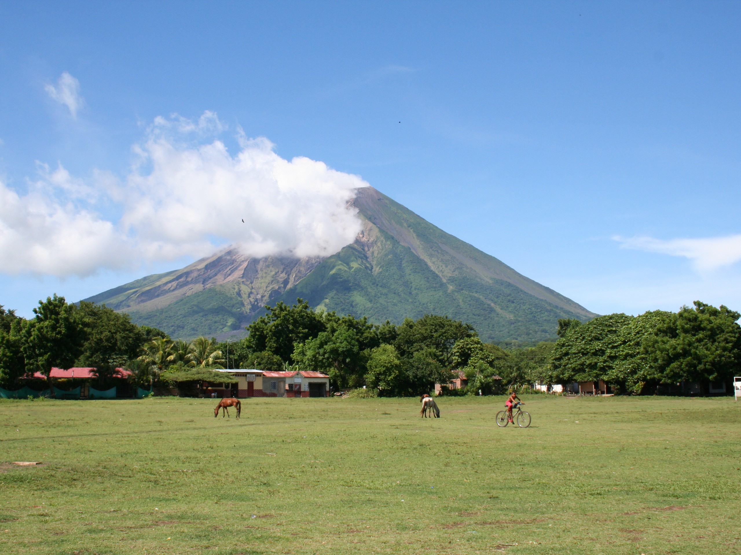 Ometepe -Concepcion Volcano as seen from afar