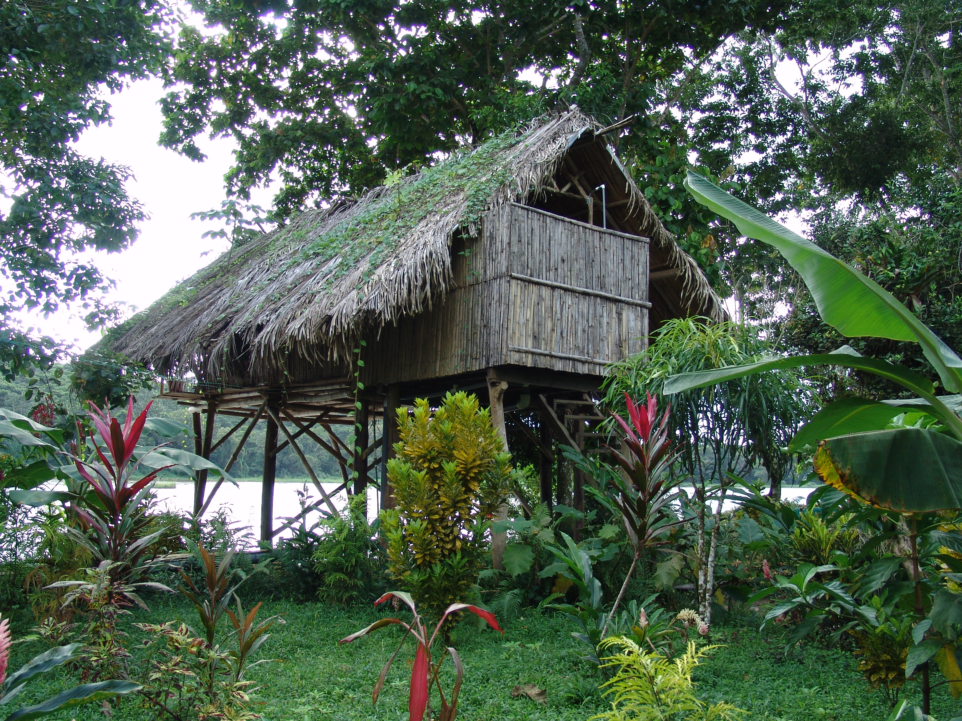 Wooden lodge visited while on Birdwatching in Nicaragua