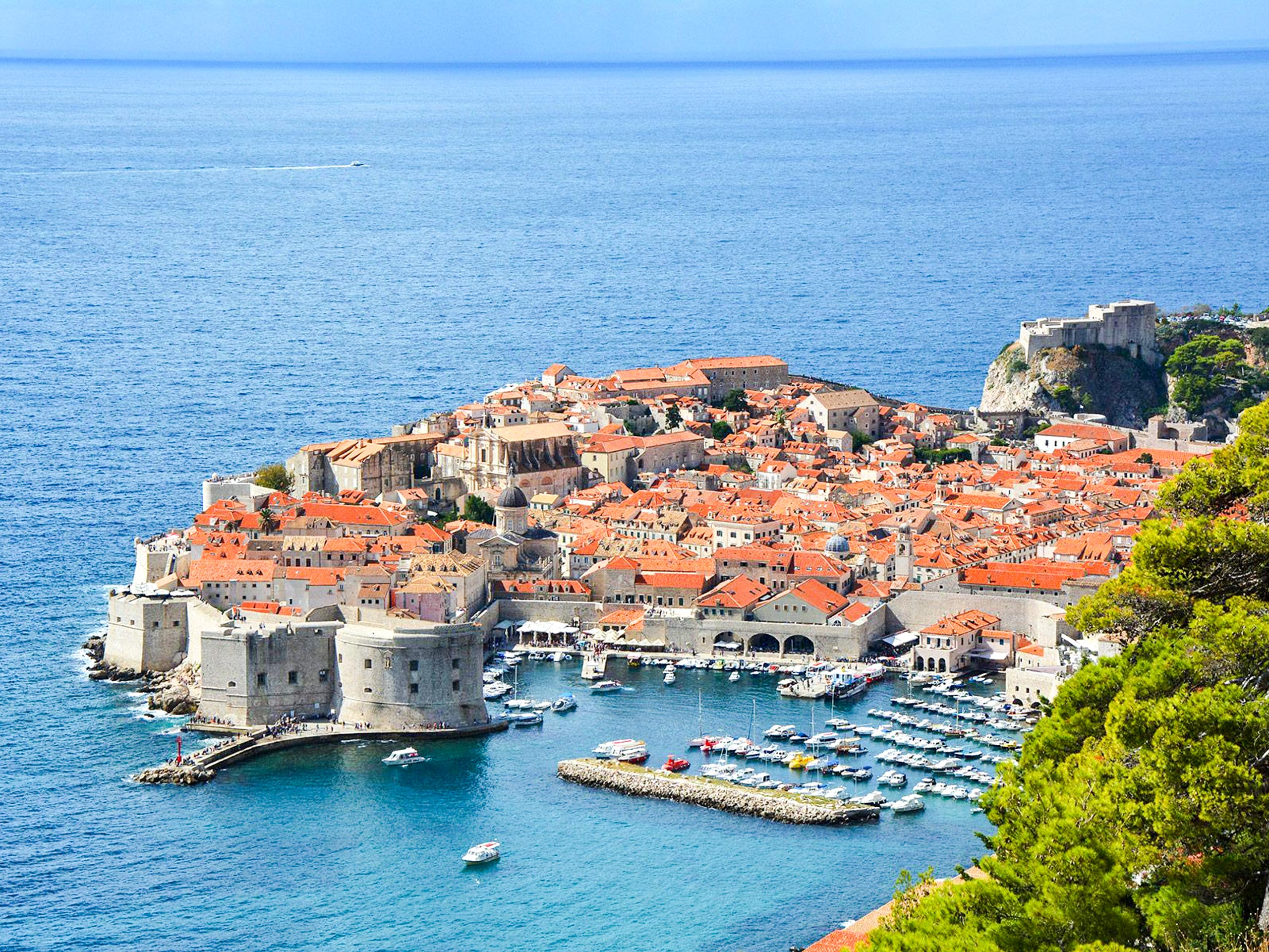 The Walls of Dubrovnik panoramic view