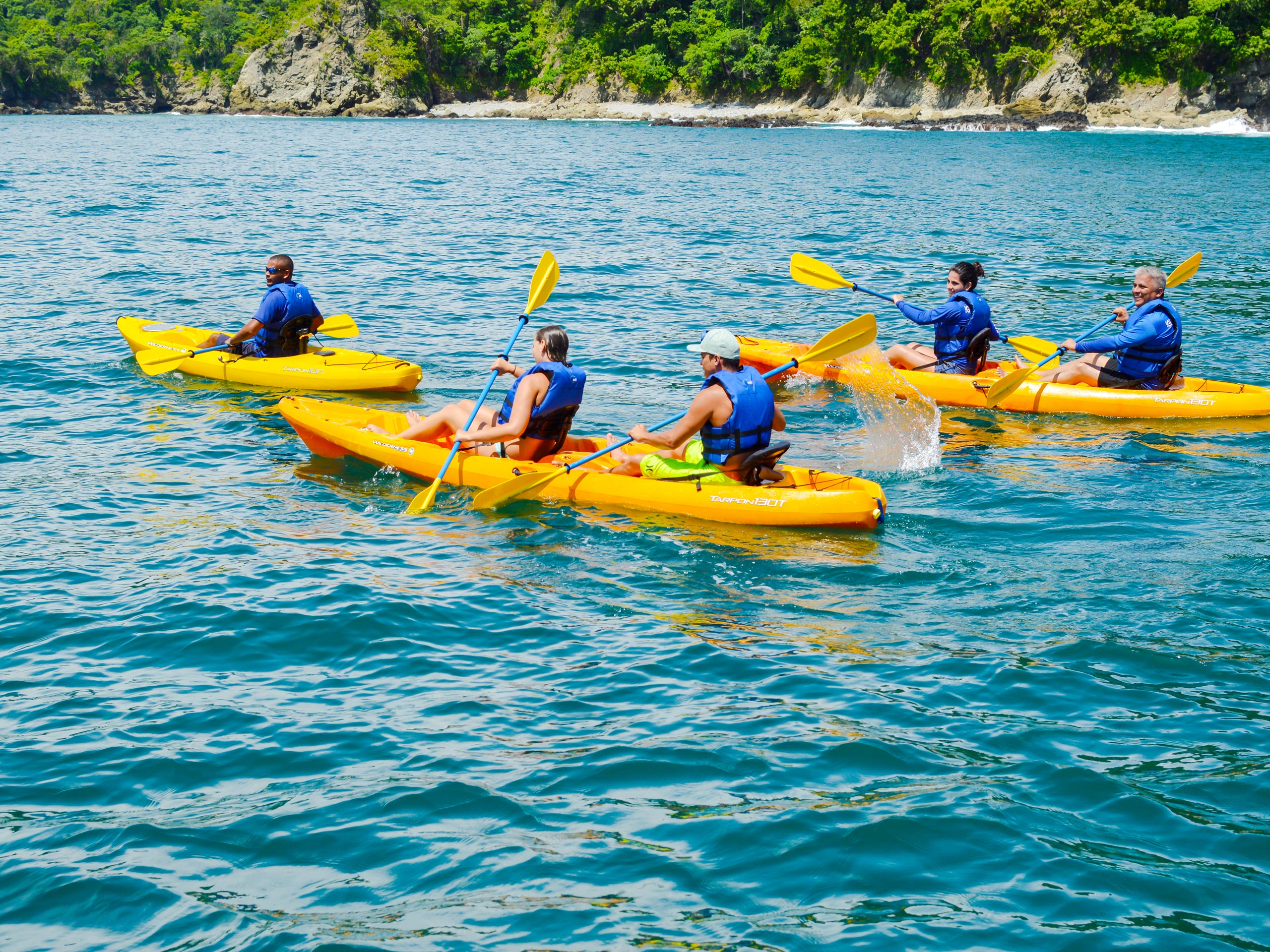 Ocean kayakind in Costa Rica