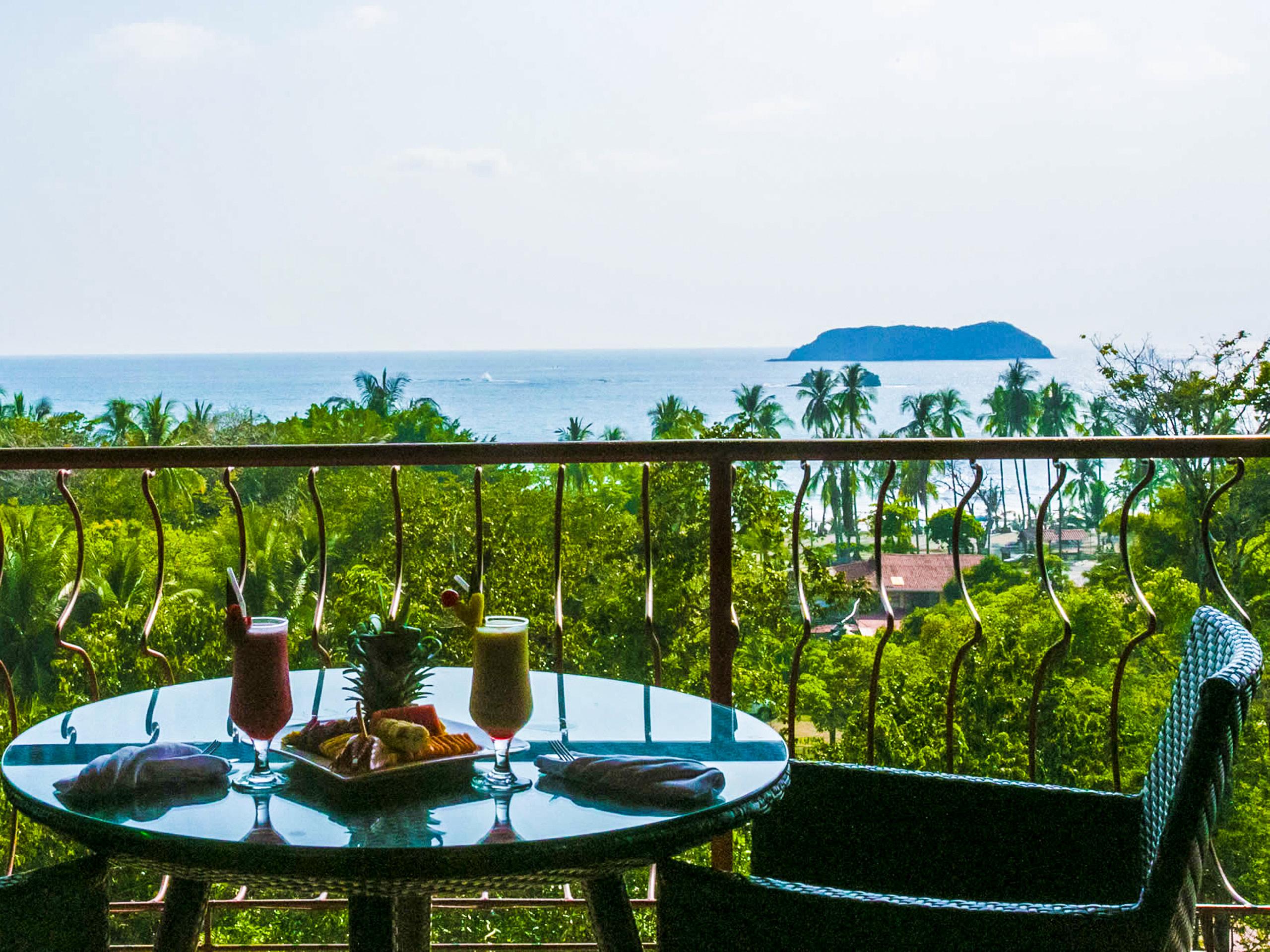 Ocean view from the Hotel Villas del bosque