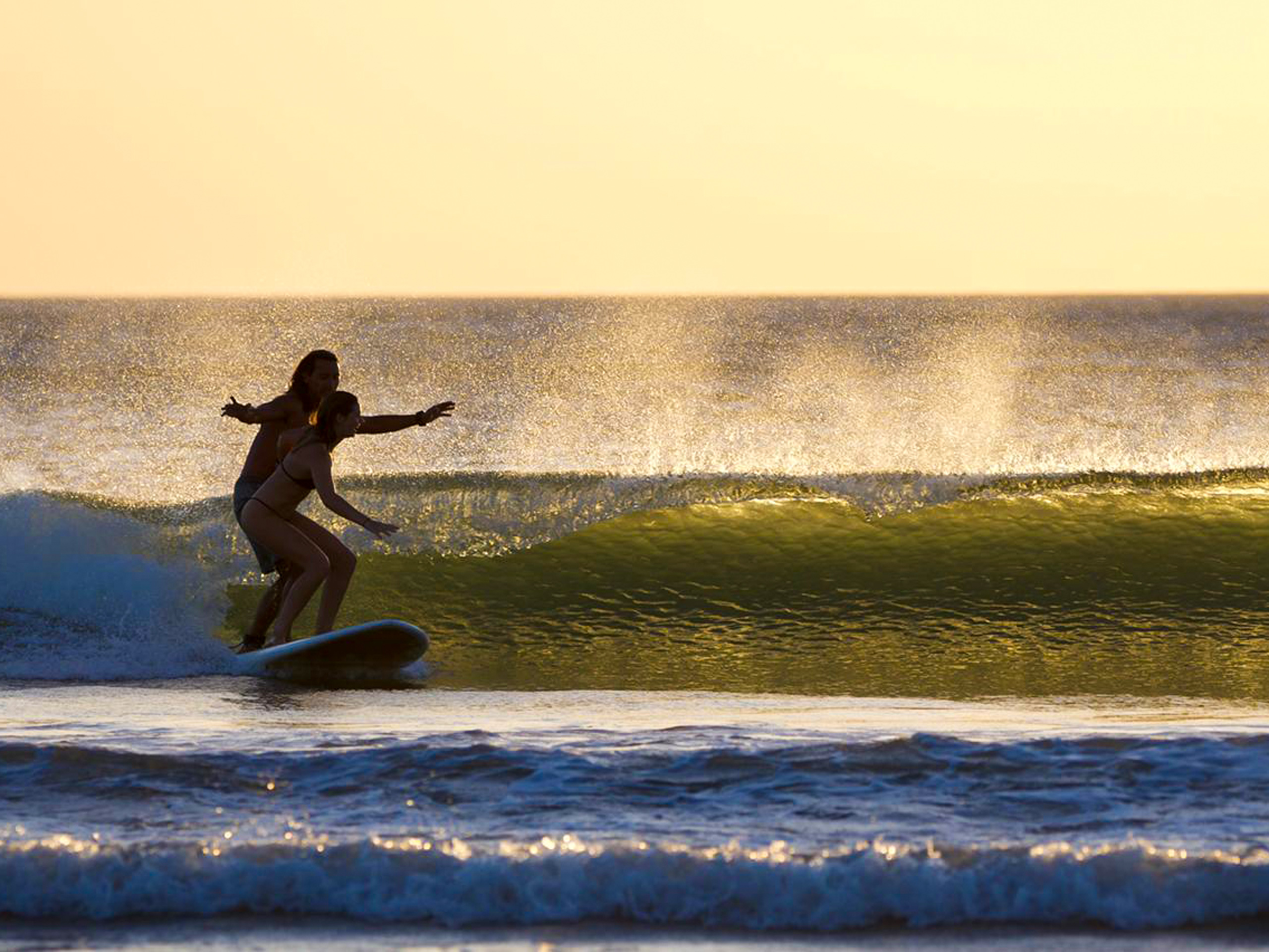 Surfing on the Pacific Ocean