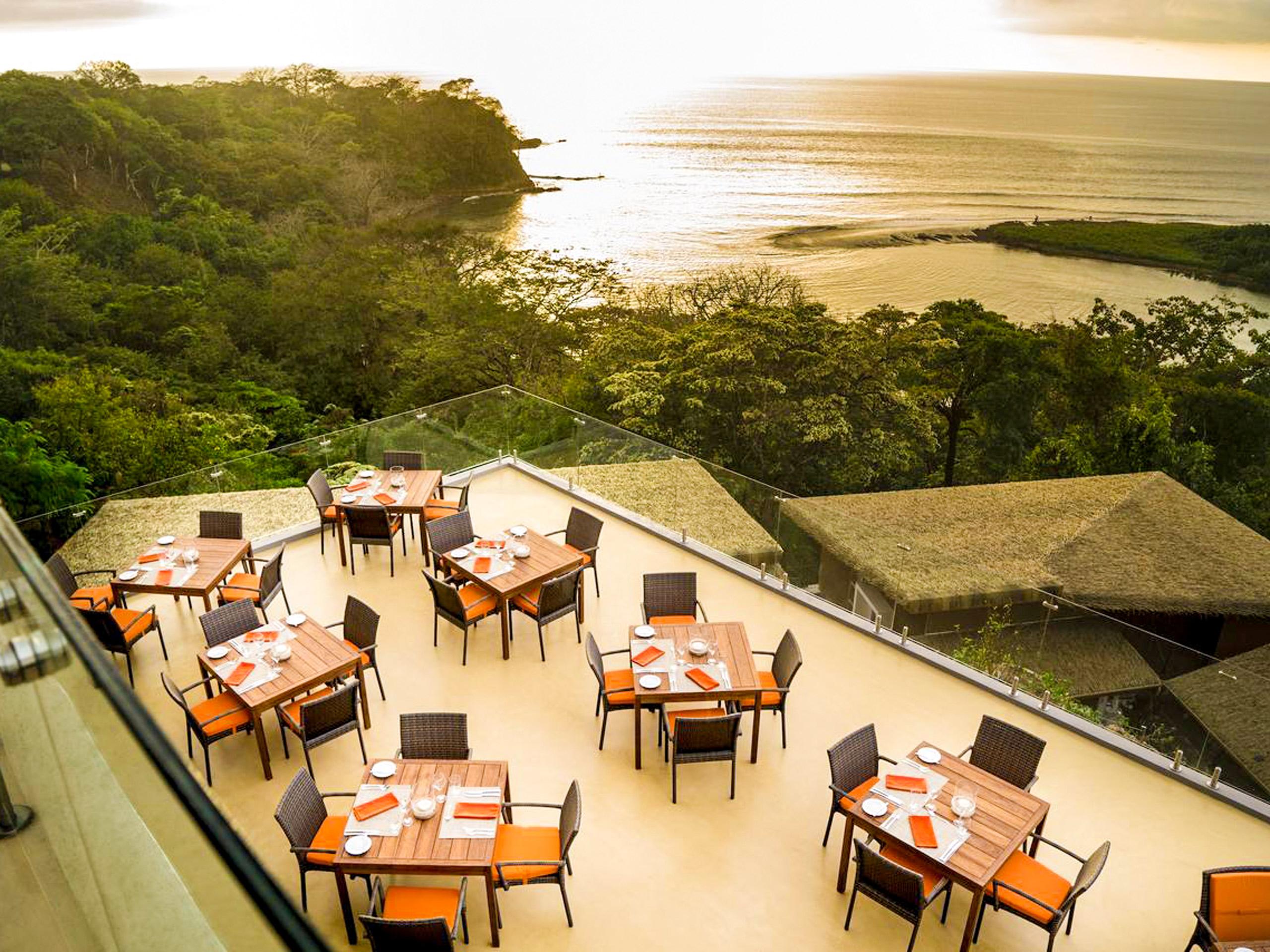 Terrace in the Lagarta Lodge hotel