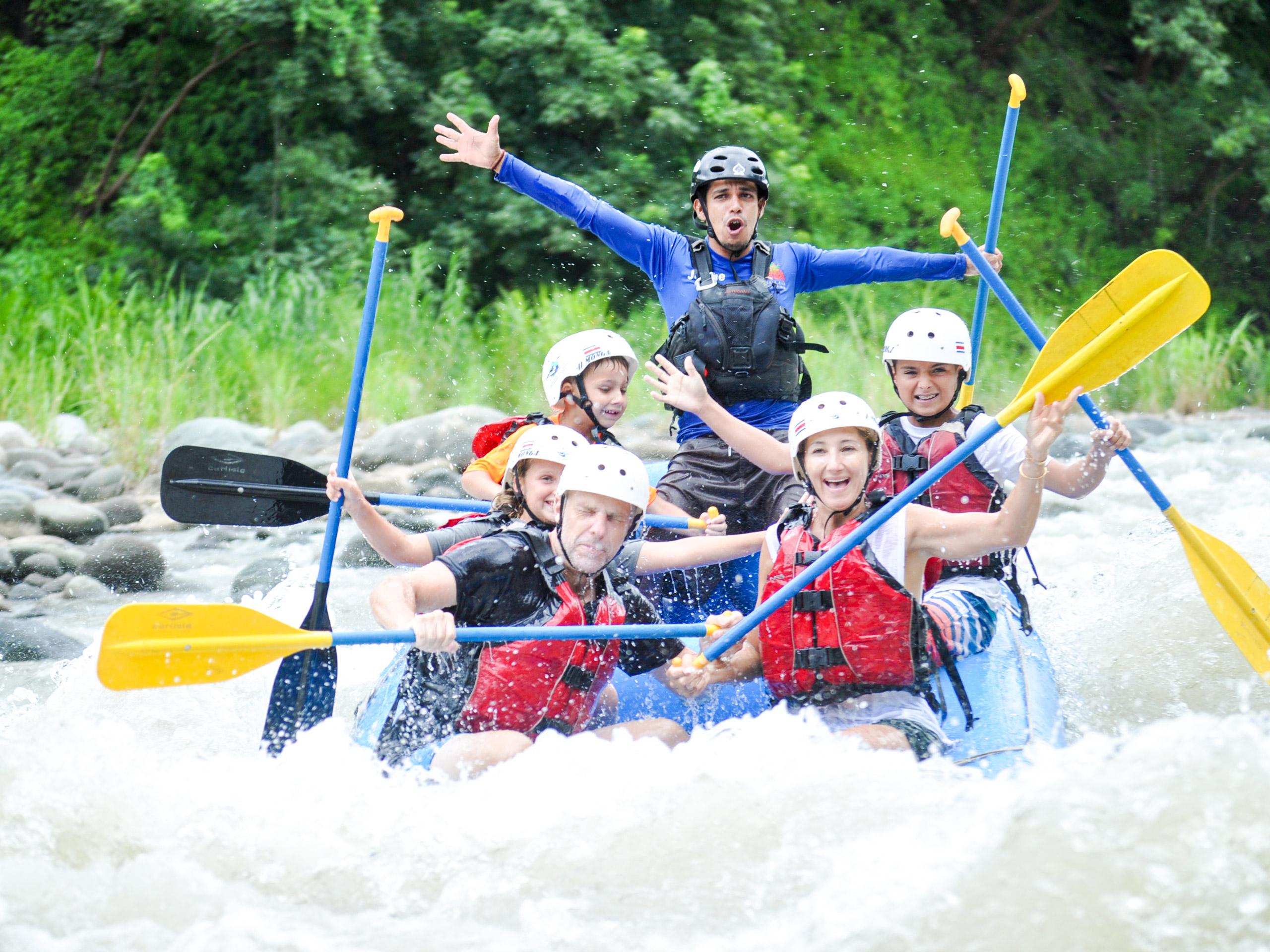 Extreme river rafting tour