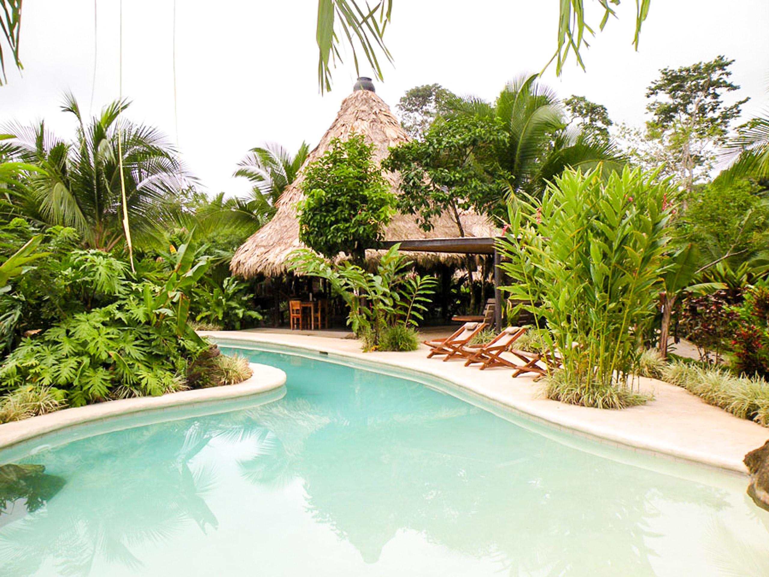 Azania Bungalows pool view
