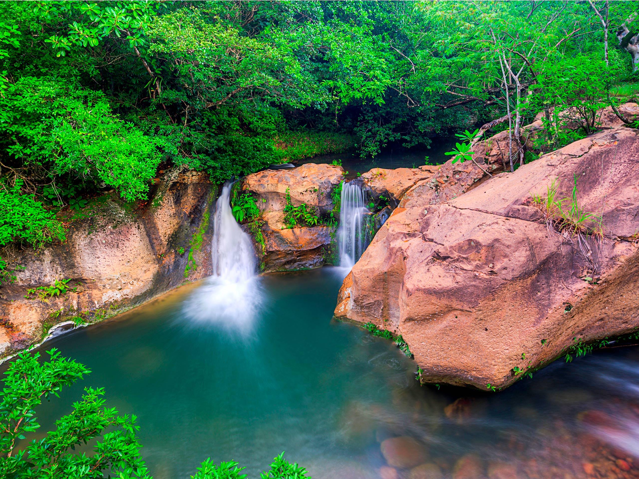 Tropical waterfall in Costa Rica