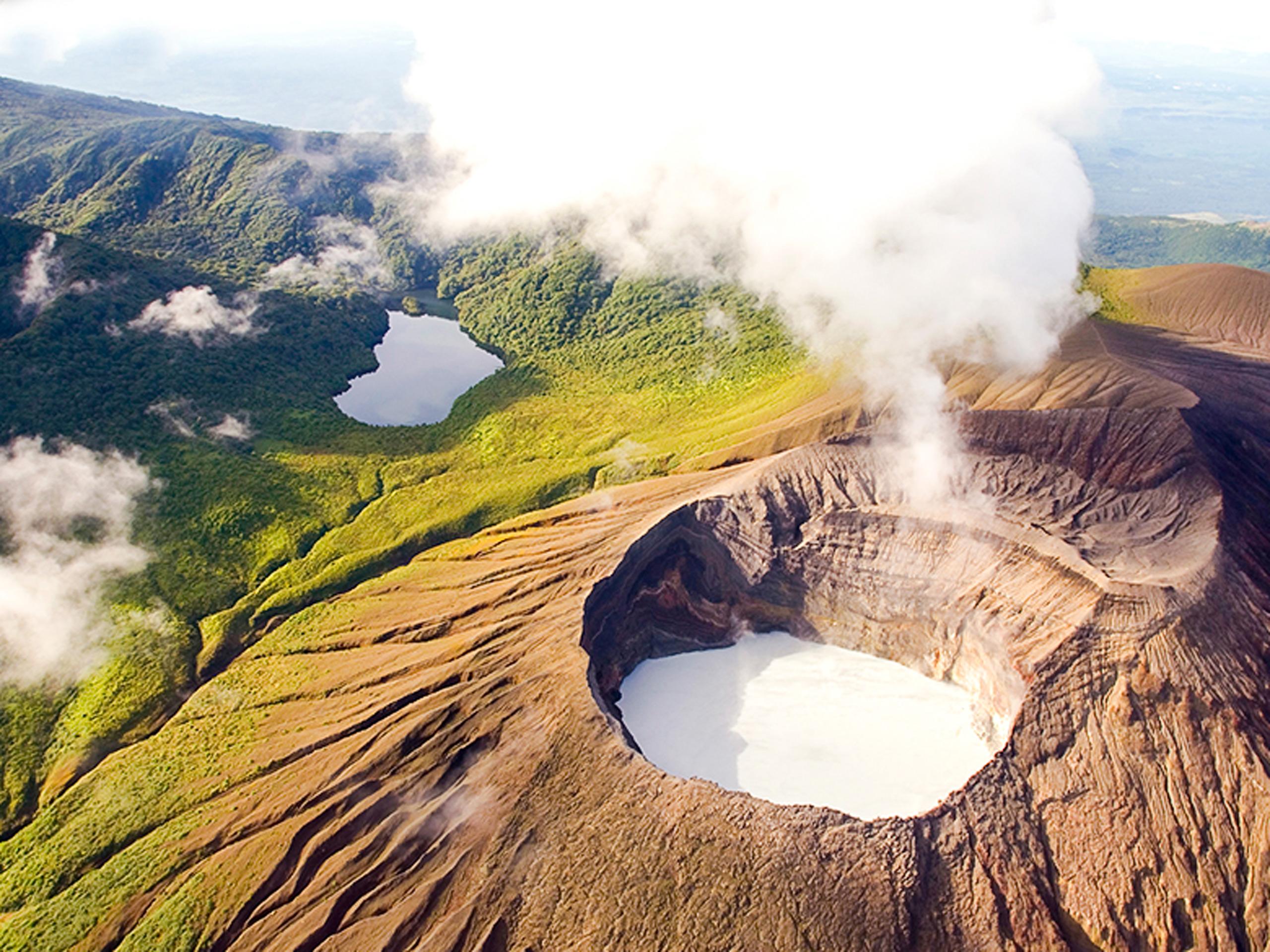 Volcano Rincon de la Vieja panoramic view