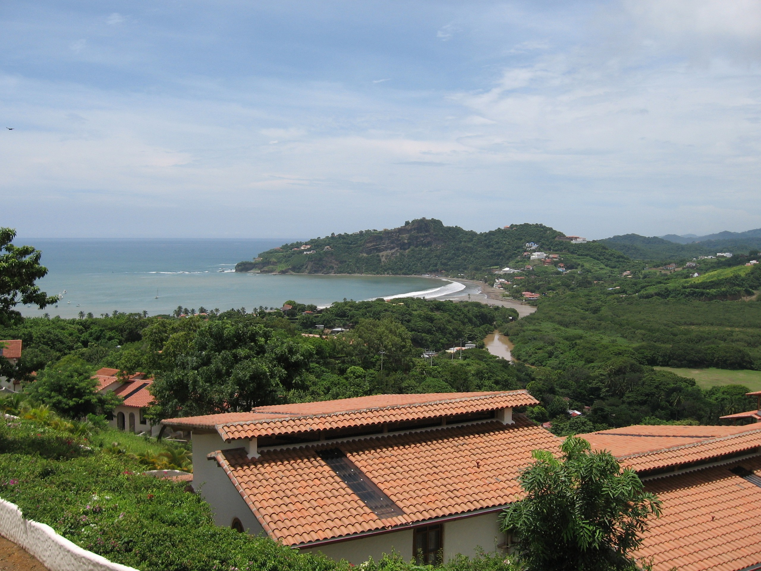 Views towards the beach in San Juan del Sur