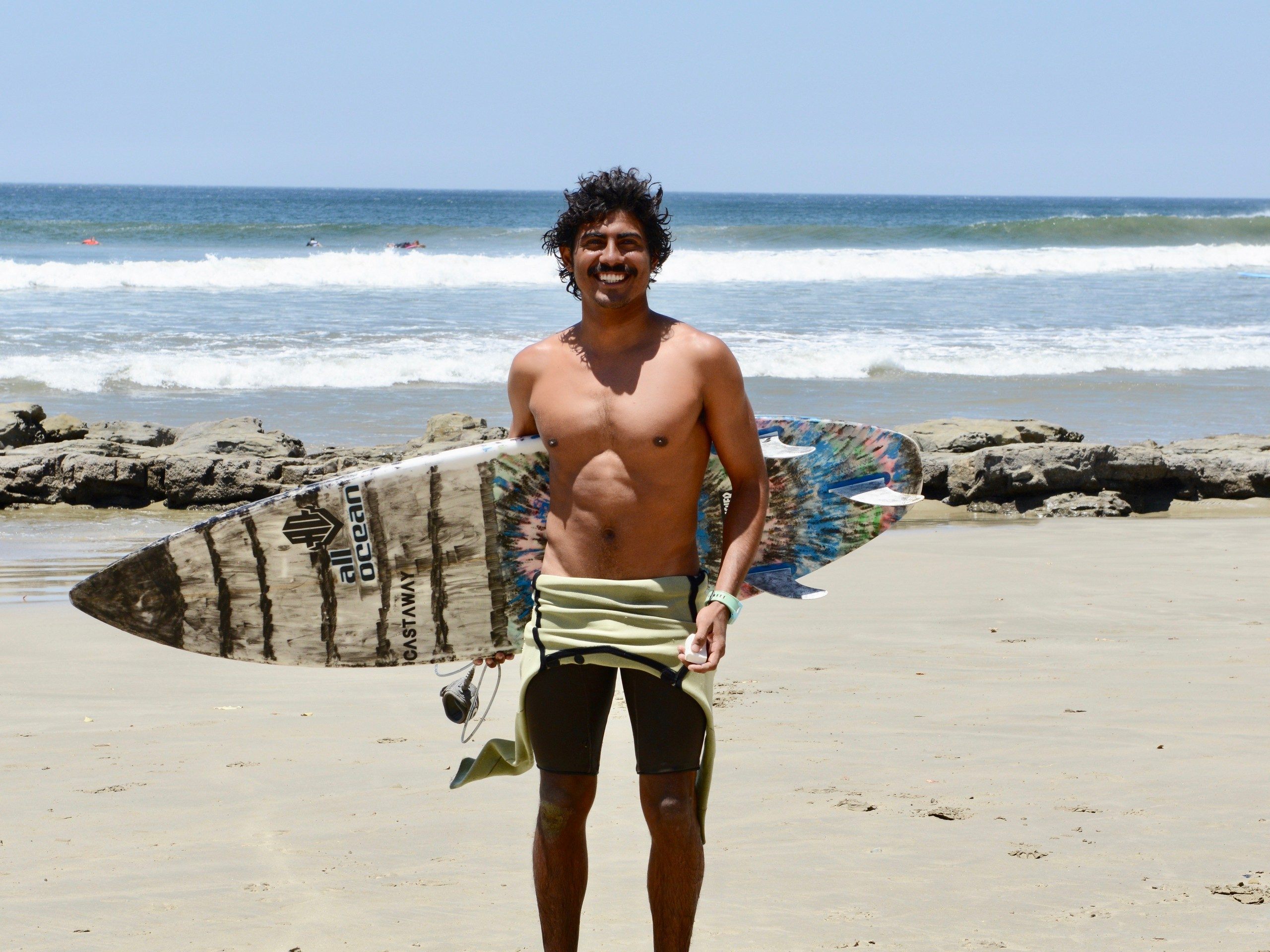 Surfboarder in San Juan del Sur, Nicaragua