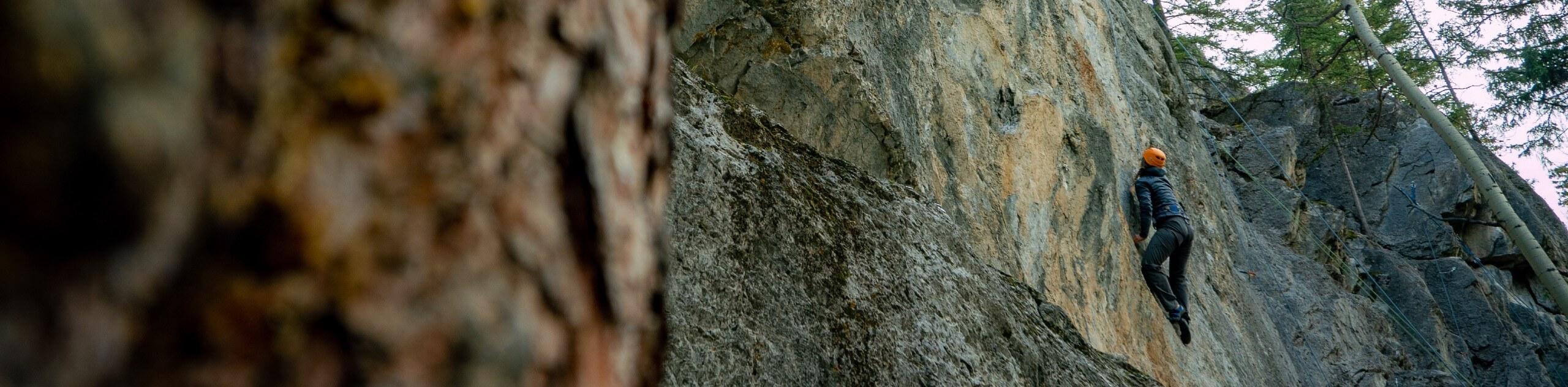 Outdoor Rock Climbing Level 1 in Canadian Rockies