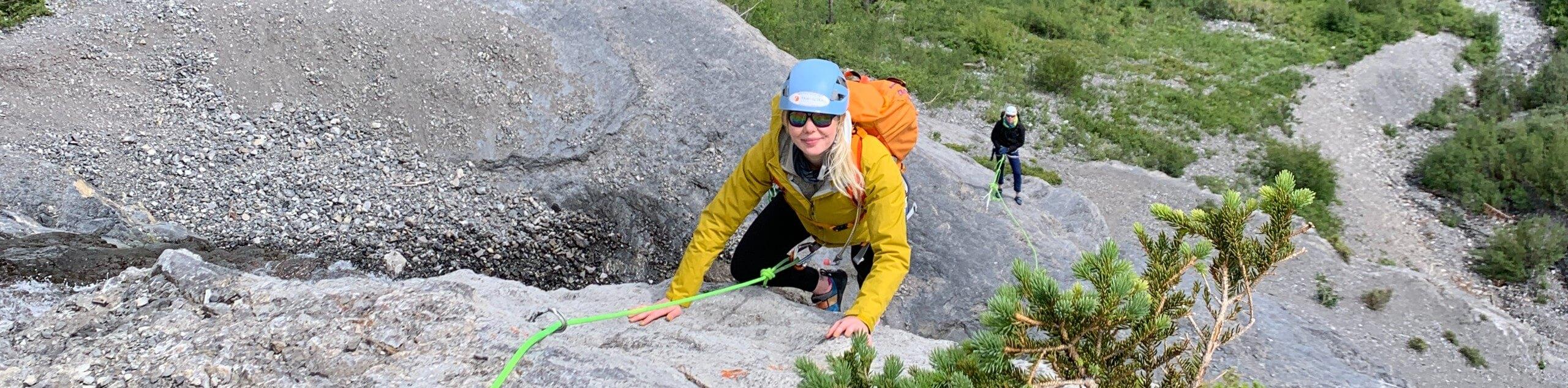 Outdoor Rock Climbing Level 1 & 2 in Canadian Rockies